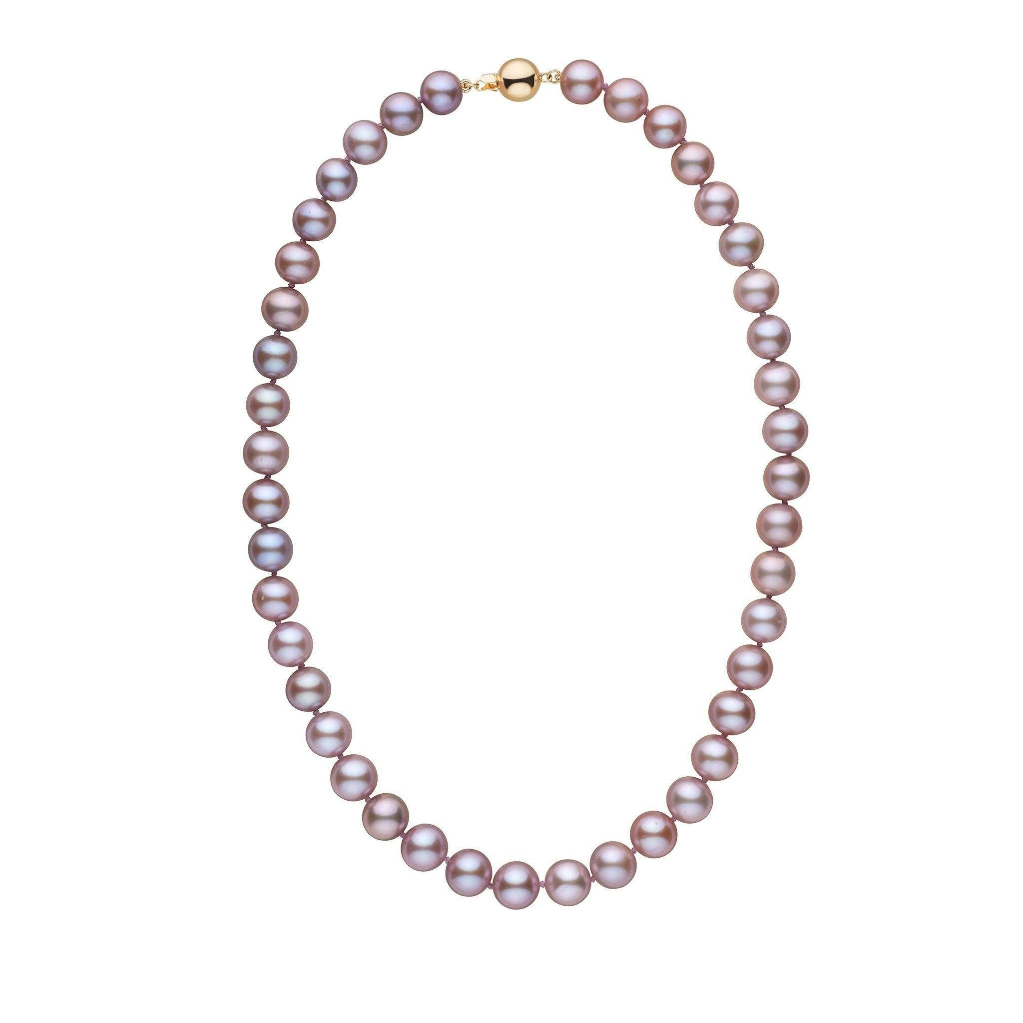 9.5-10.5 mm 18 Inch AA+ Lavender Freshwater Pearl Necklace