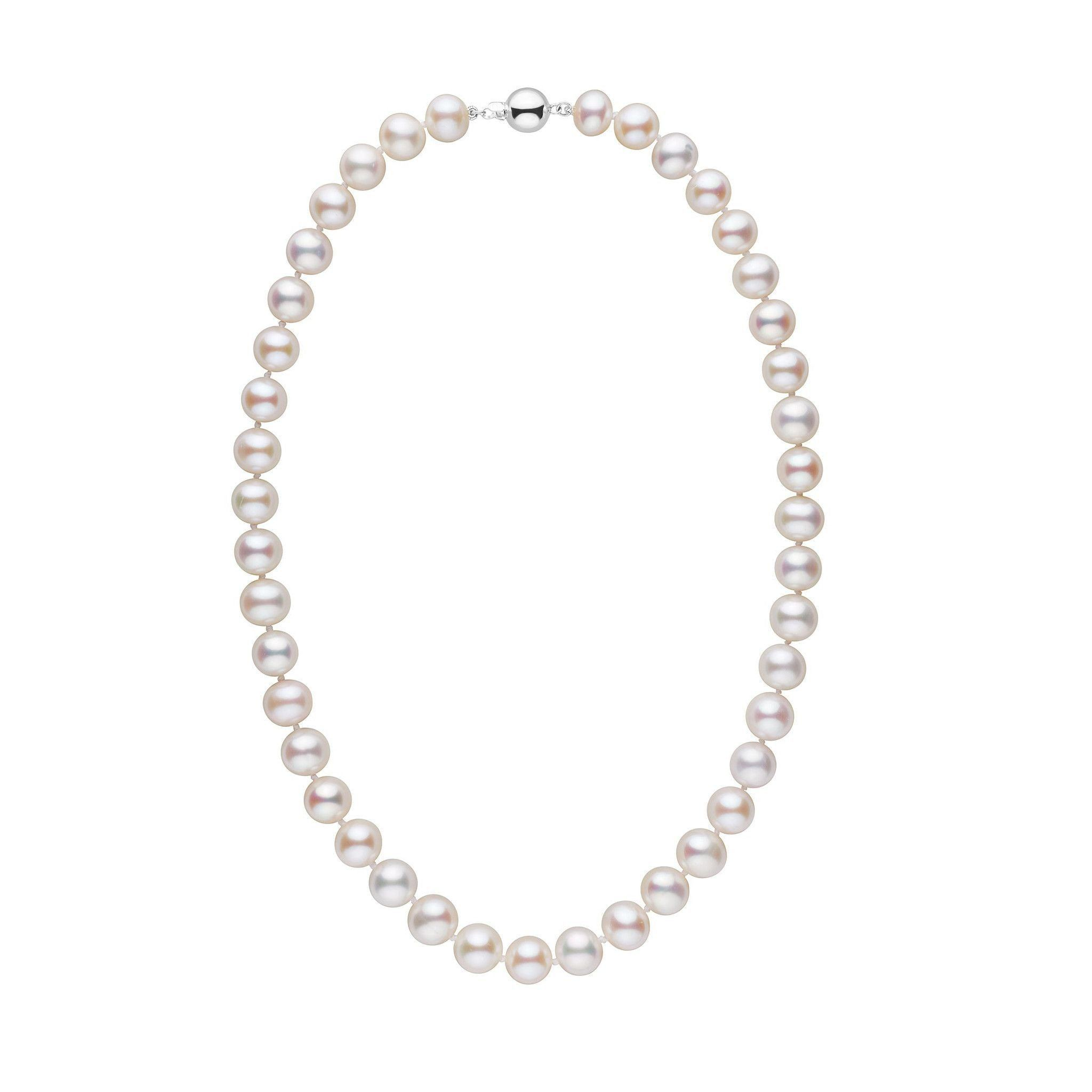 9.5-10.5 mm 18 inch AA+ White Freshwater Pearl Necklace