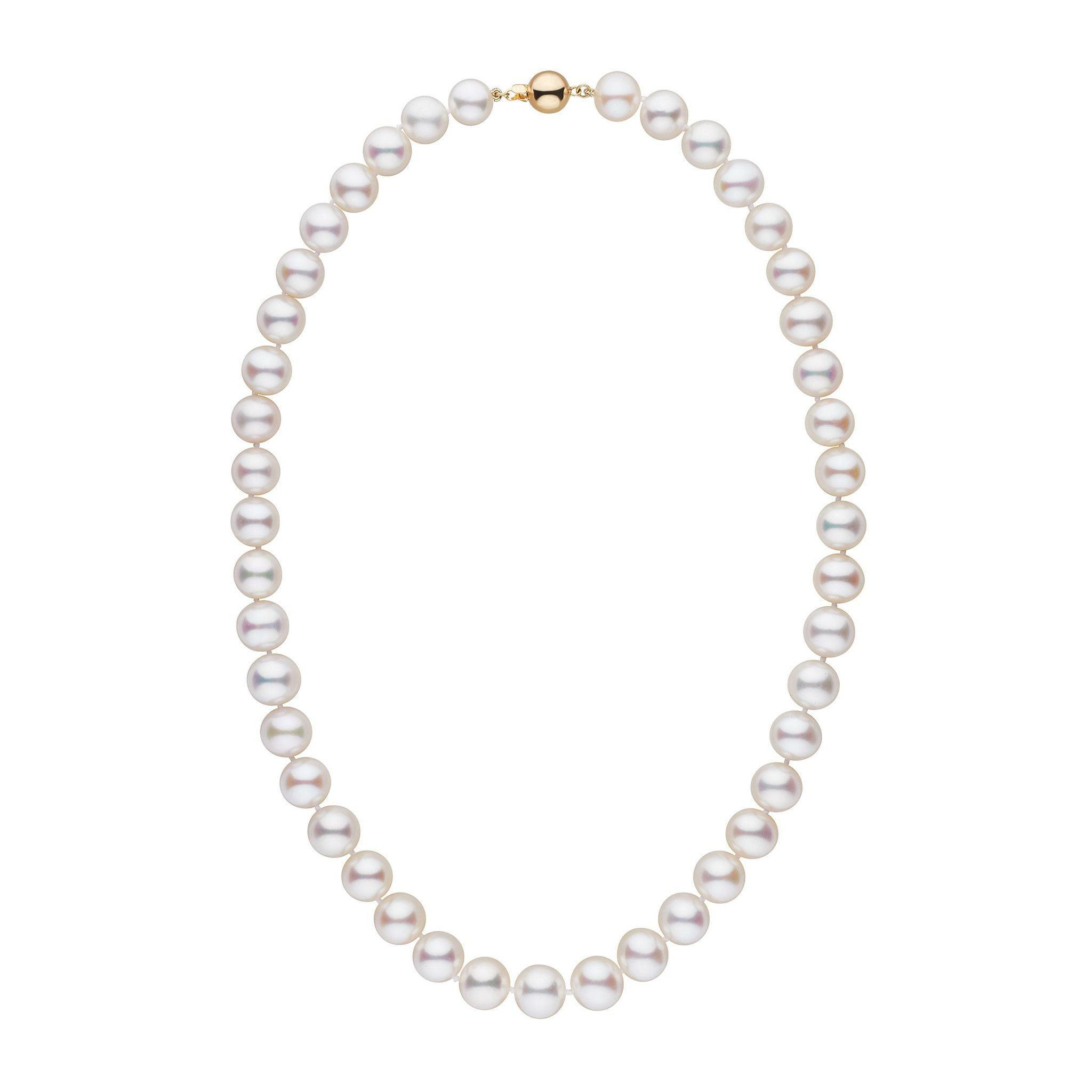 9.5-10.5 mm 18 inch AAA White Freshwater Pearl Necklace