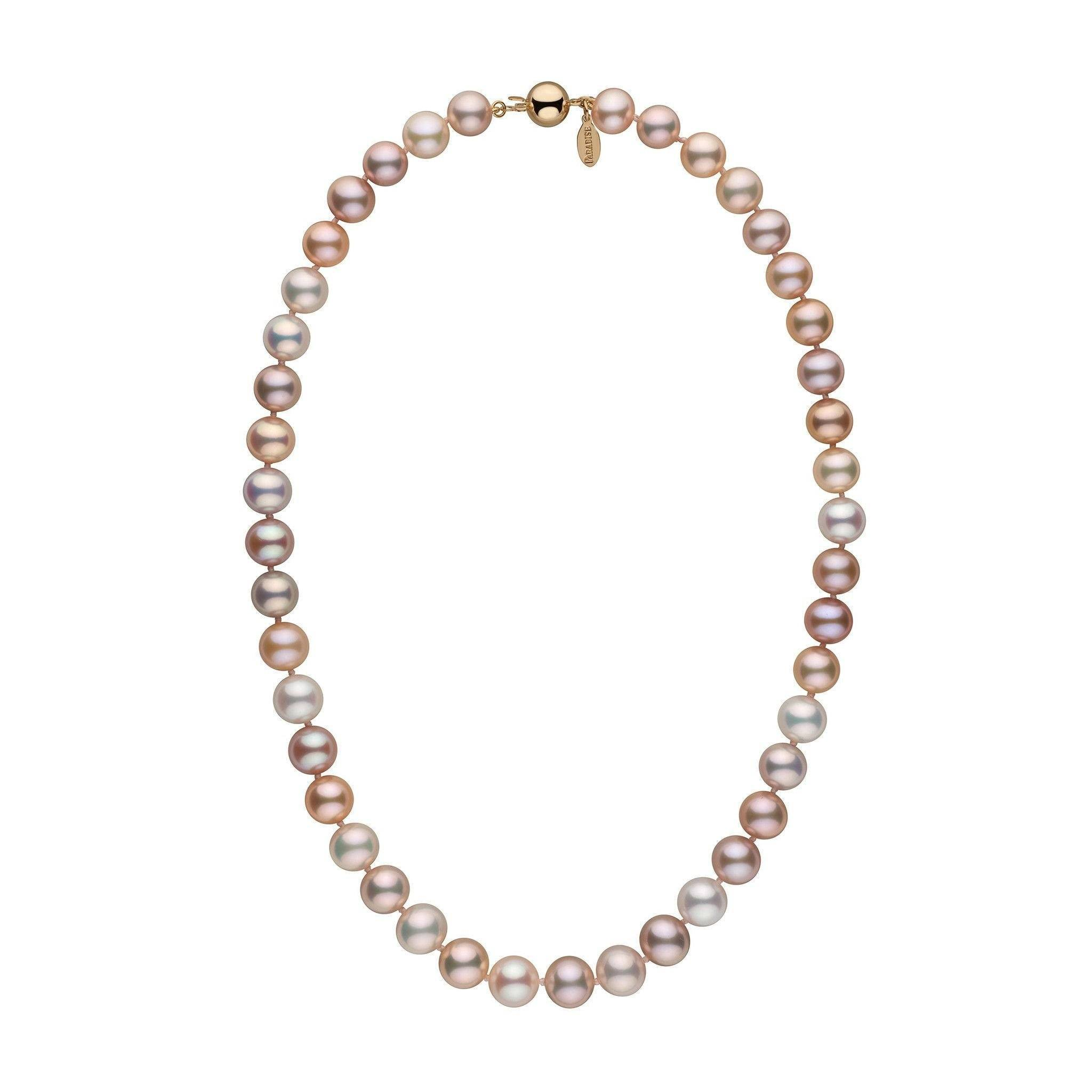 9.5-10.5 mm 18 Inch Multicolor Freshadama Freshwater Pearl Necklace
