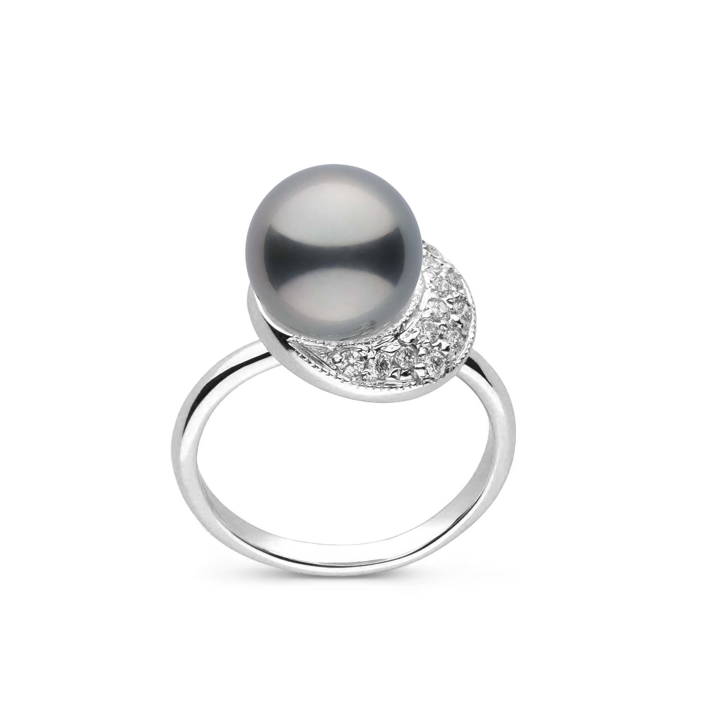 Eclipse Collection Tahitian Pearl and Diamond Ring