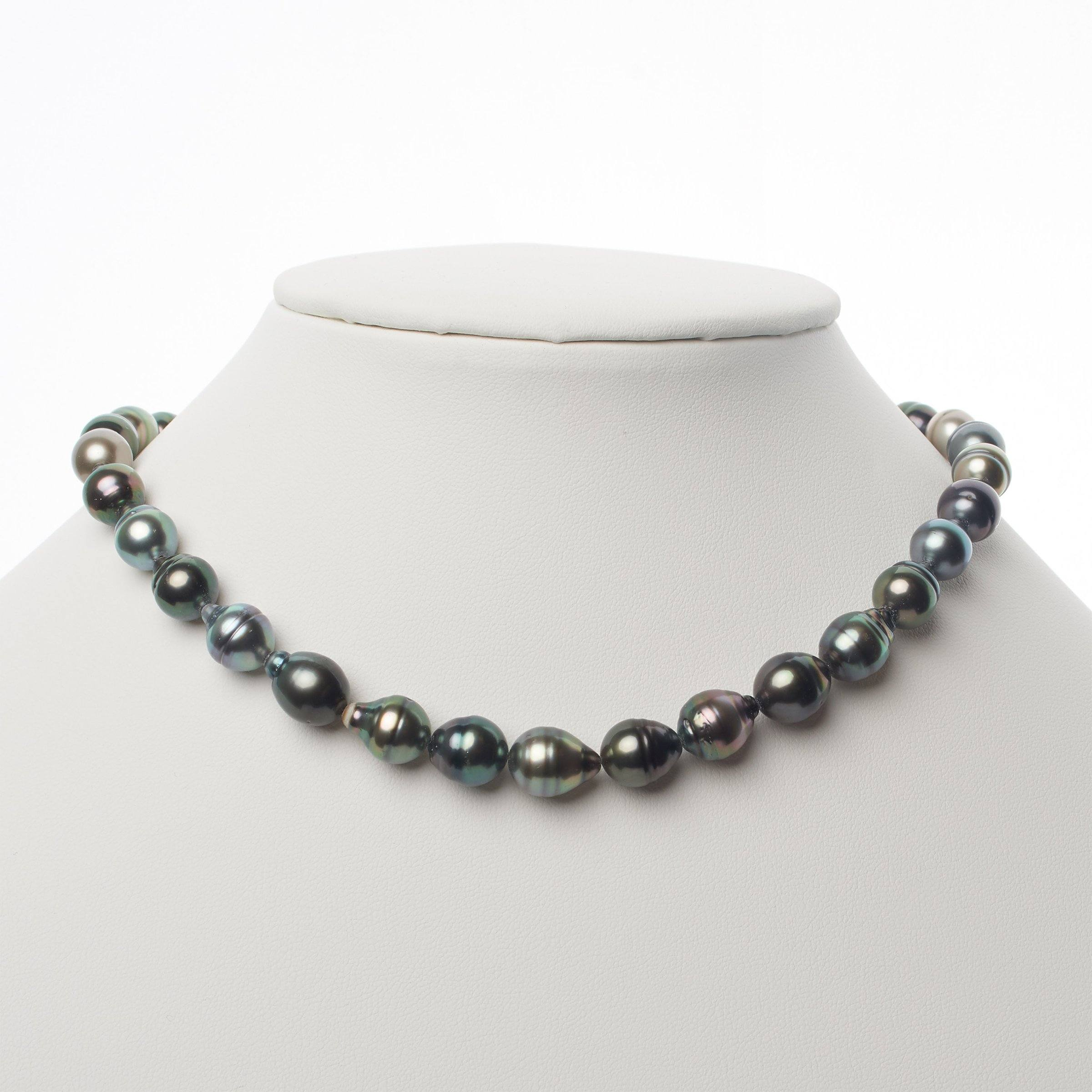 8.3-10.3 mm AAA Tahitian Baroque Pearl Necklace