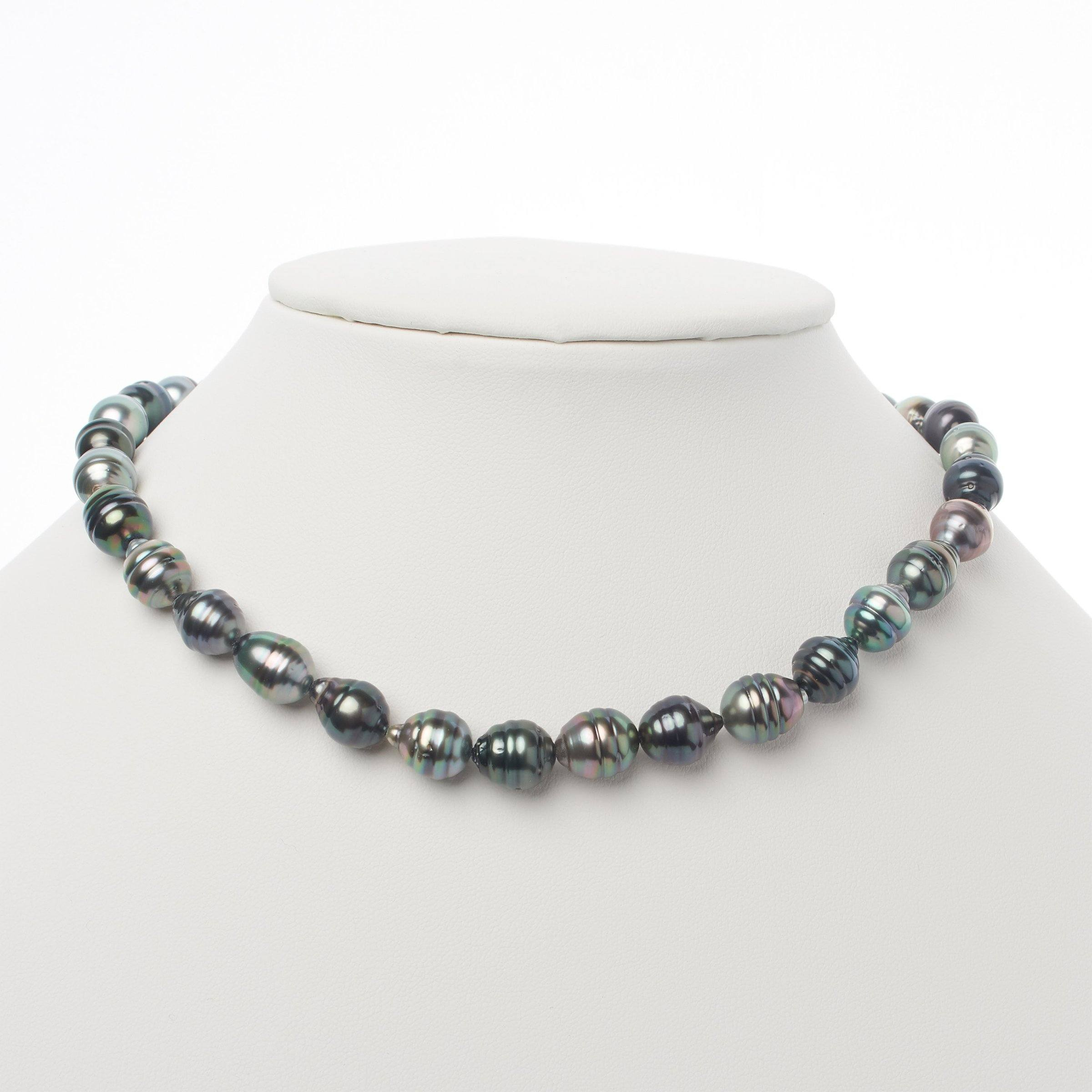8.1-10.4 mm AA+ Tahitian Baroque Pearl Necklace