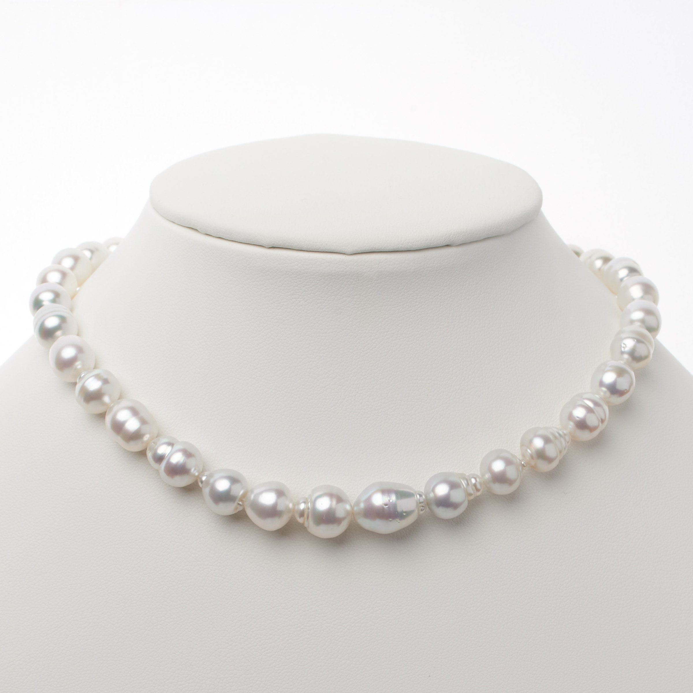 8.0-11.5 mm AA+/AAA White South Sea Baroque Necklace