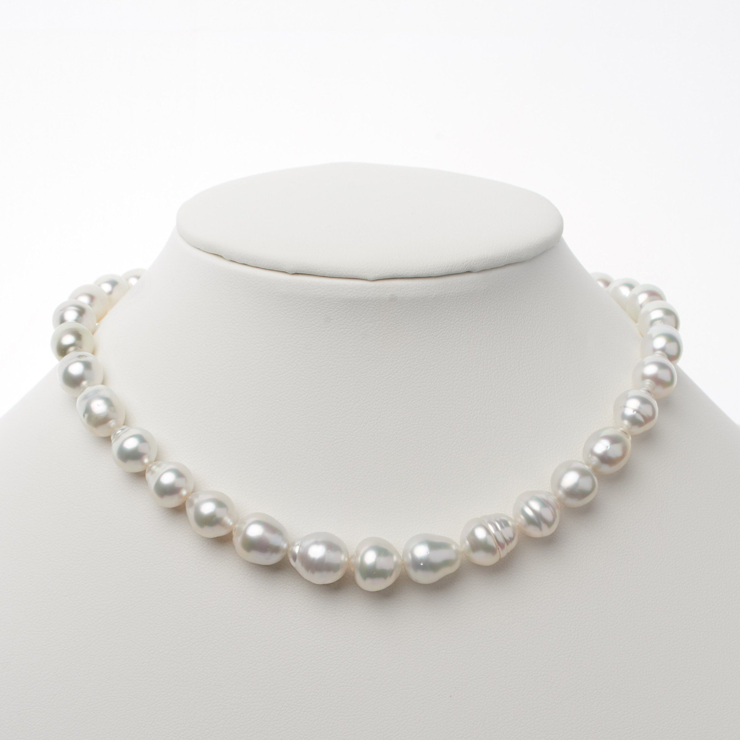 8.1-11.8 mm AA+/AAA White South Sea Baroque Necklace