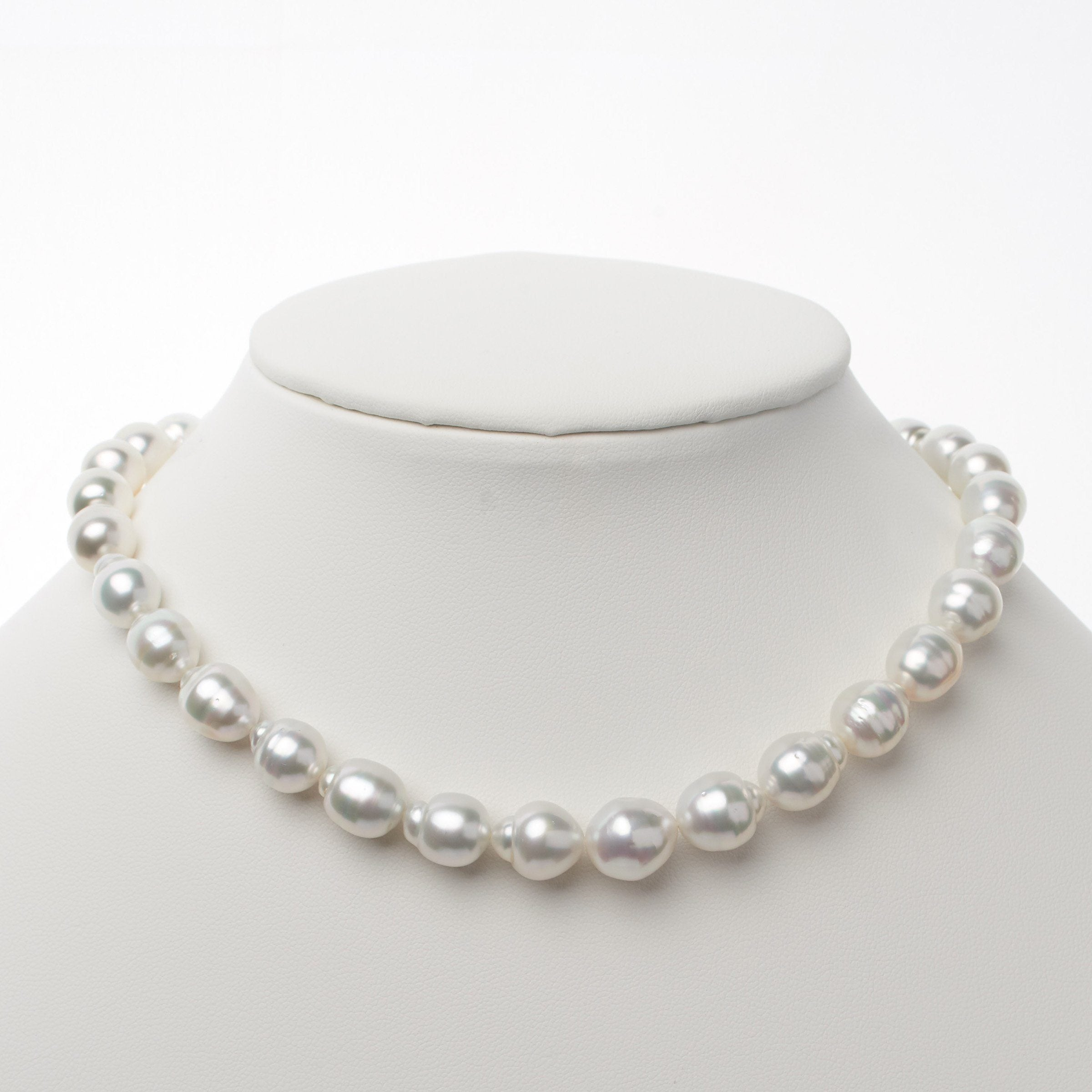 8.9-11.8 mm AA+/AAA White South Sea Baroque Necklace
