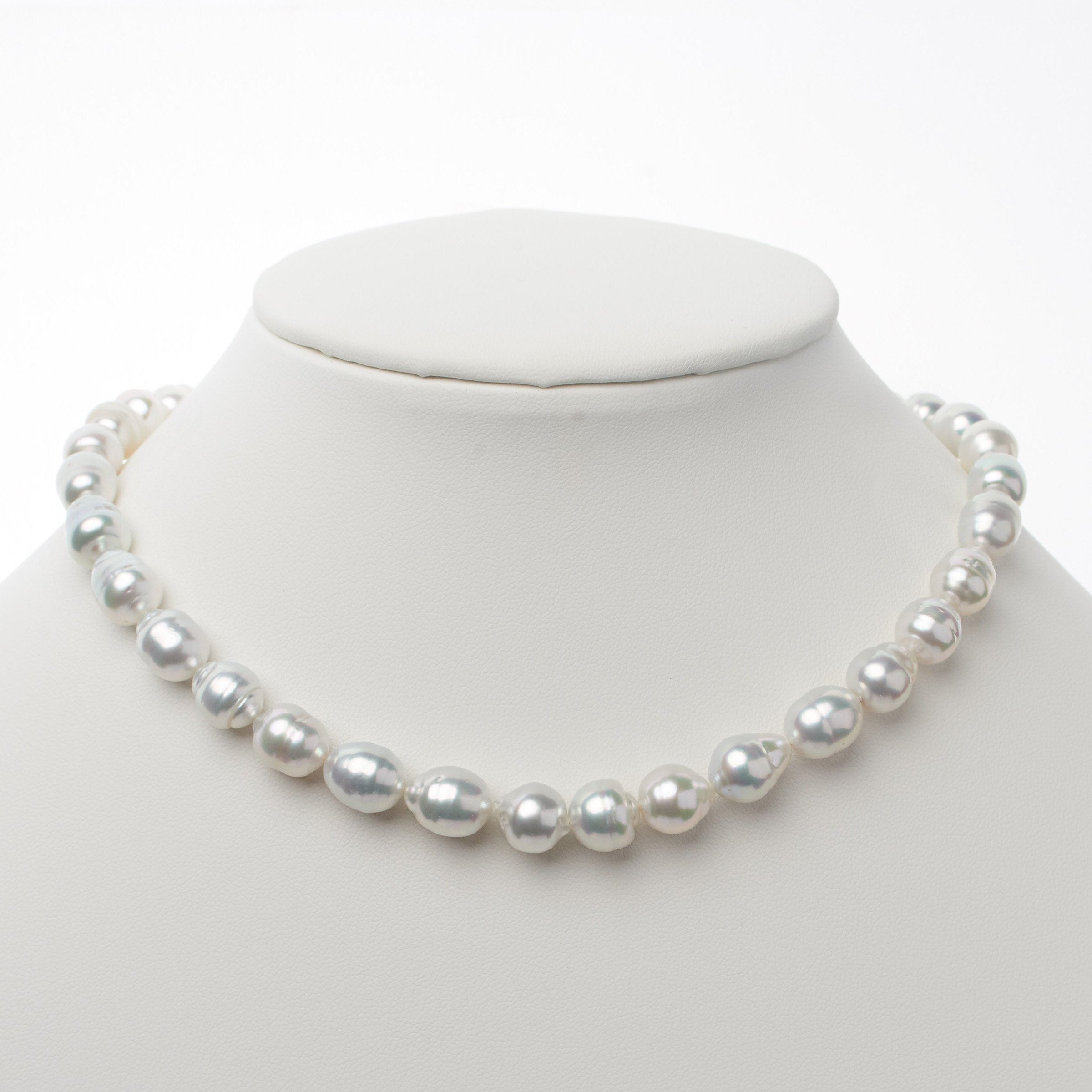 8.1-10.5 mm AA+/AAA White South Sea Baroque Necklace