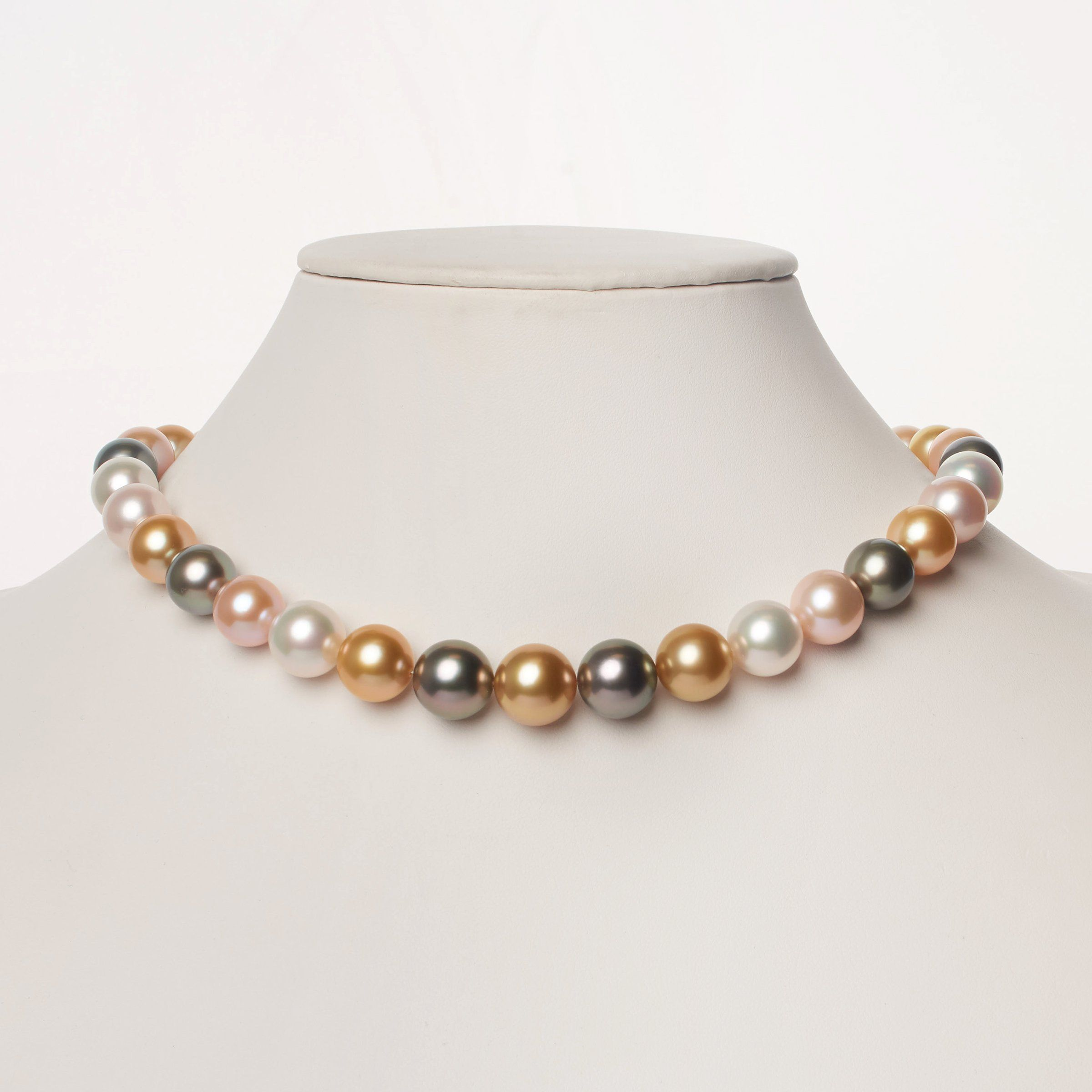 11.0-13.5 mm AAA Multicolored Round Pearl Necklace