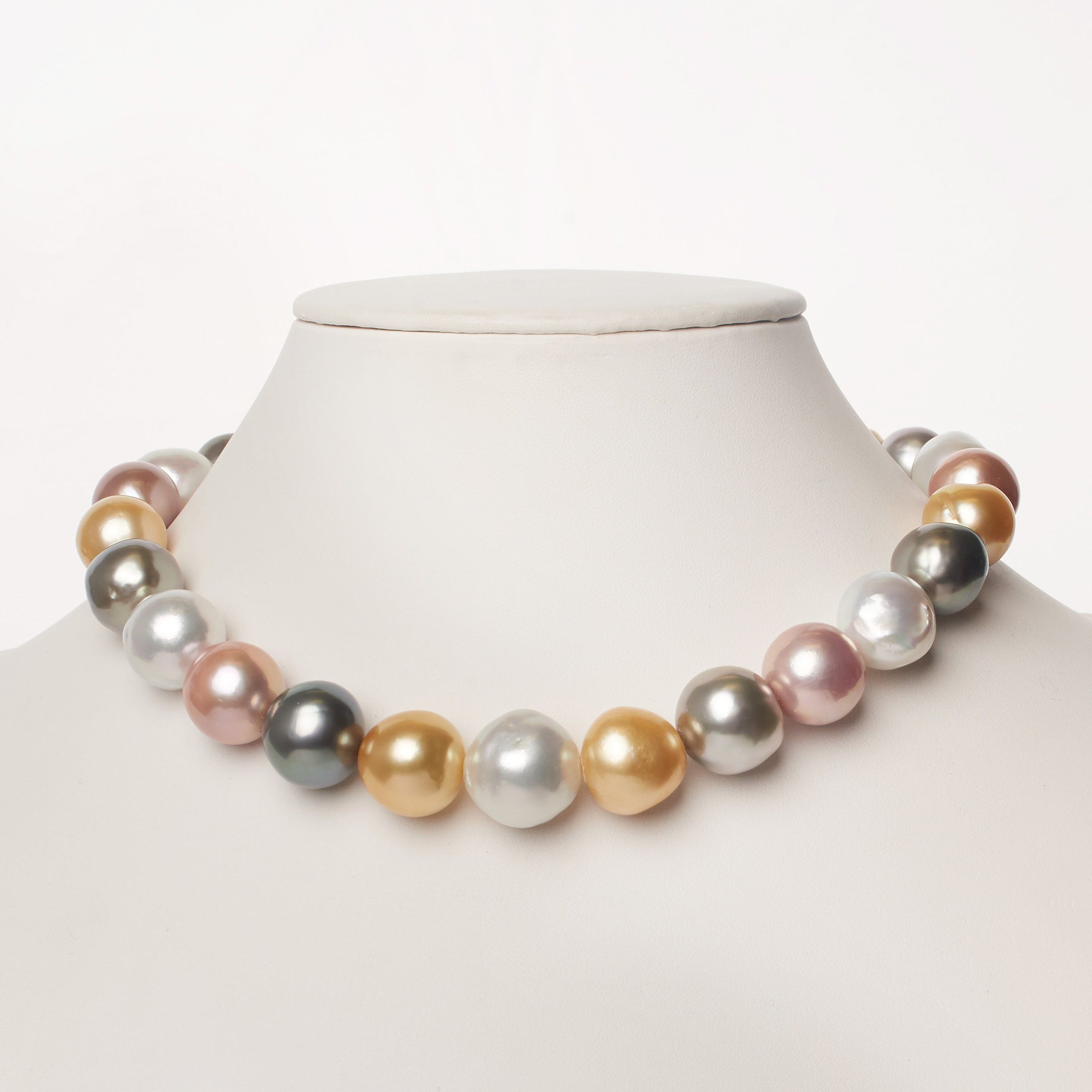 15.2-18.9 mm AA+/AAA Multicolored Baroque Pearl Necklace