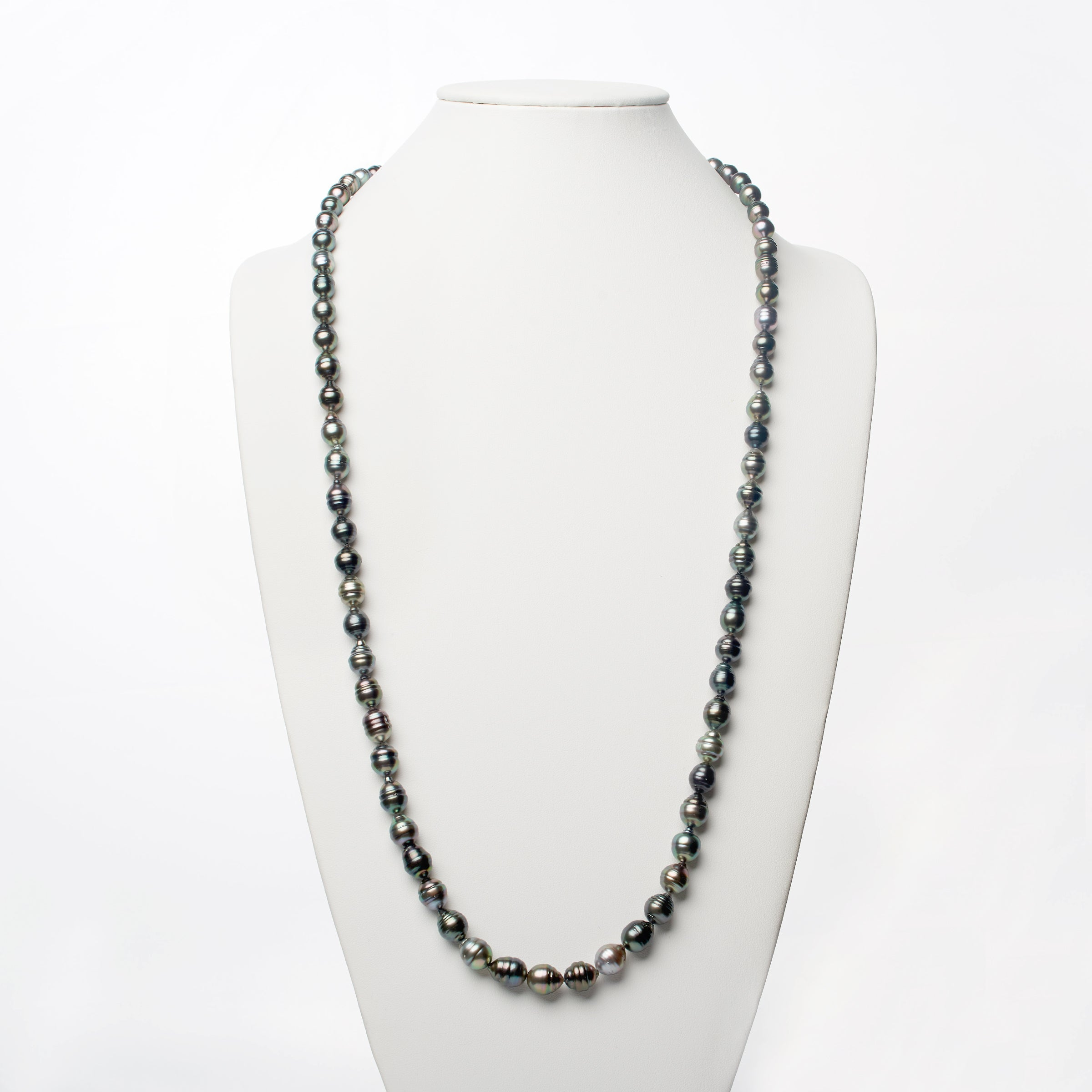 8.0-10.4 mm AA+/AAA Tahitian Baroque Pearl Necklace - 35 Inches