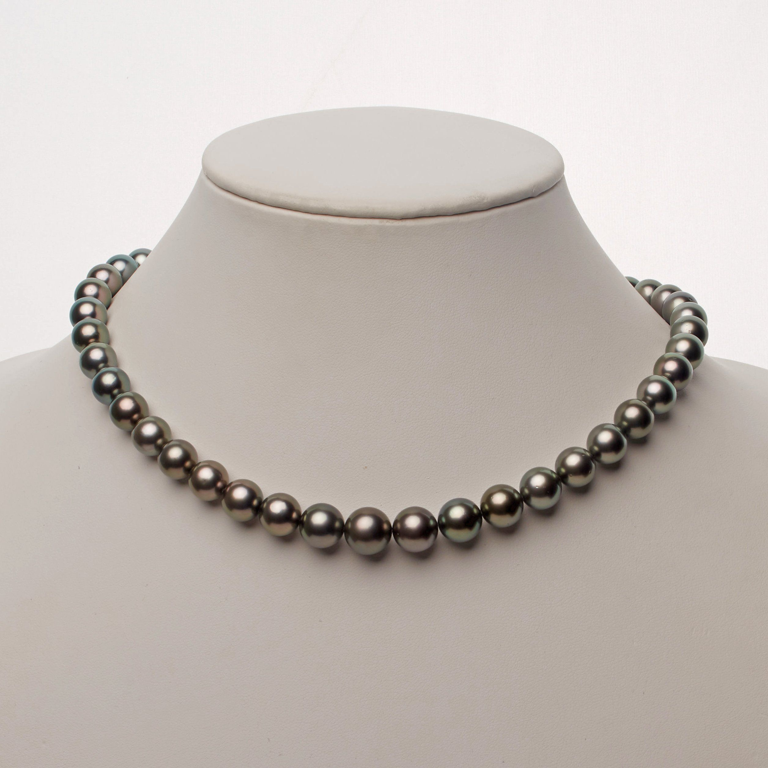 9.0-11.3 mm AA+/AAA Tahitian Round Pearl Necklace