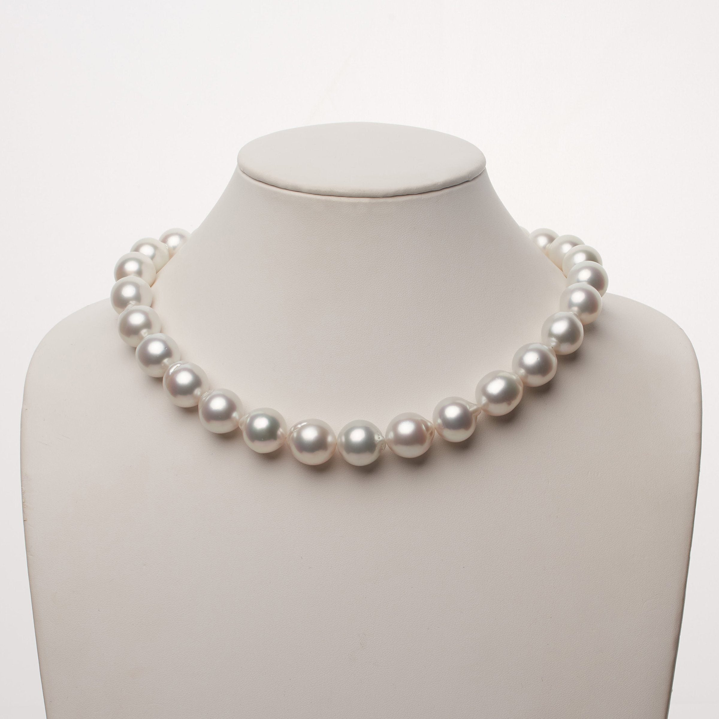 14.0-16.0 mm AA+/AAA White South Sea Baroque Pearl Necklace