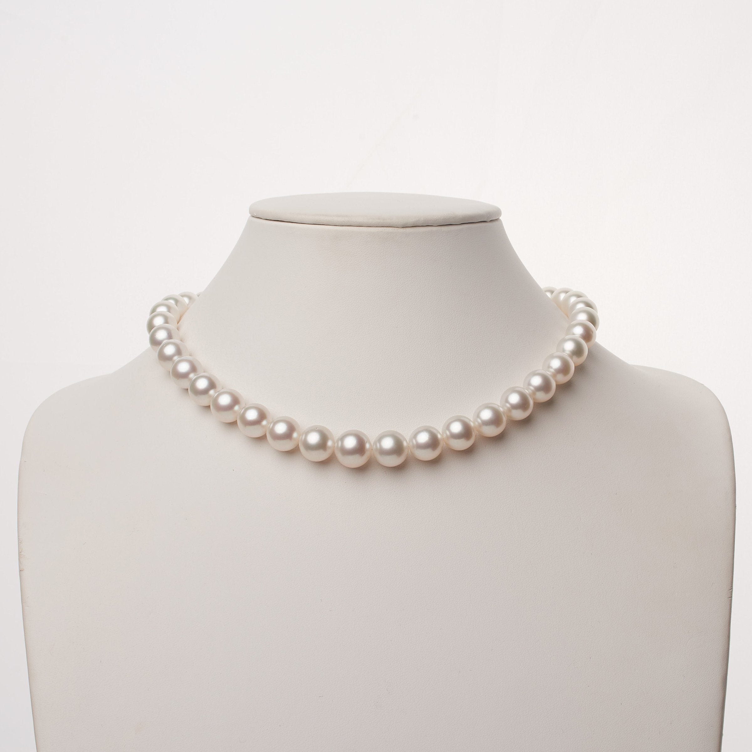 10.0-12.3 mm AA+/AAA White South Sea Round Pearl Necklace