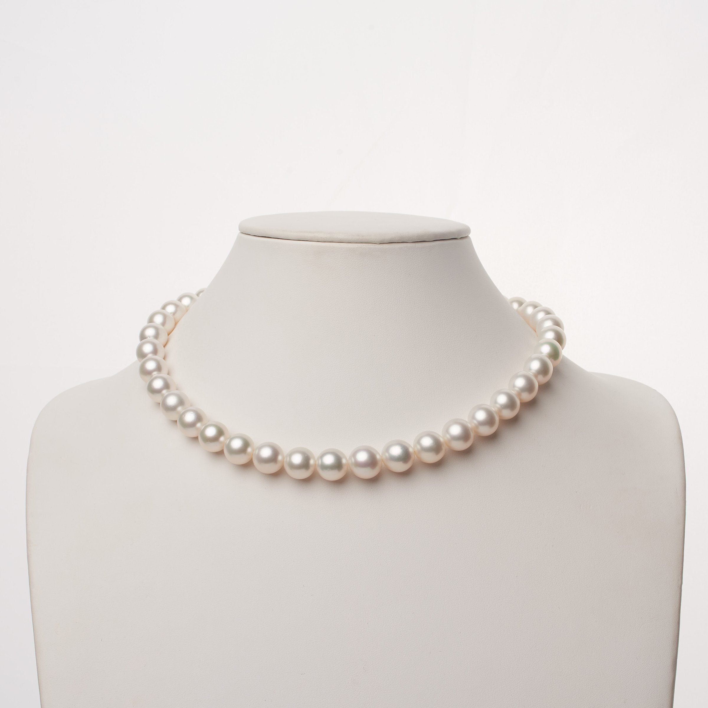 10.1-11.8 mm AA+/AAA White South Sea Round Pearl Necklace