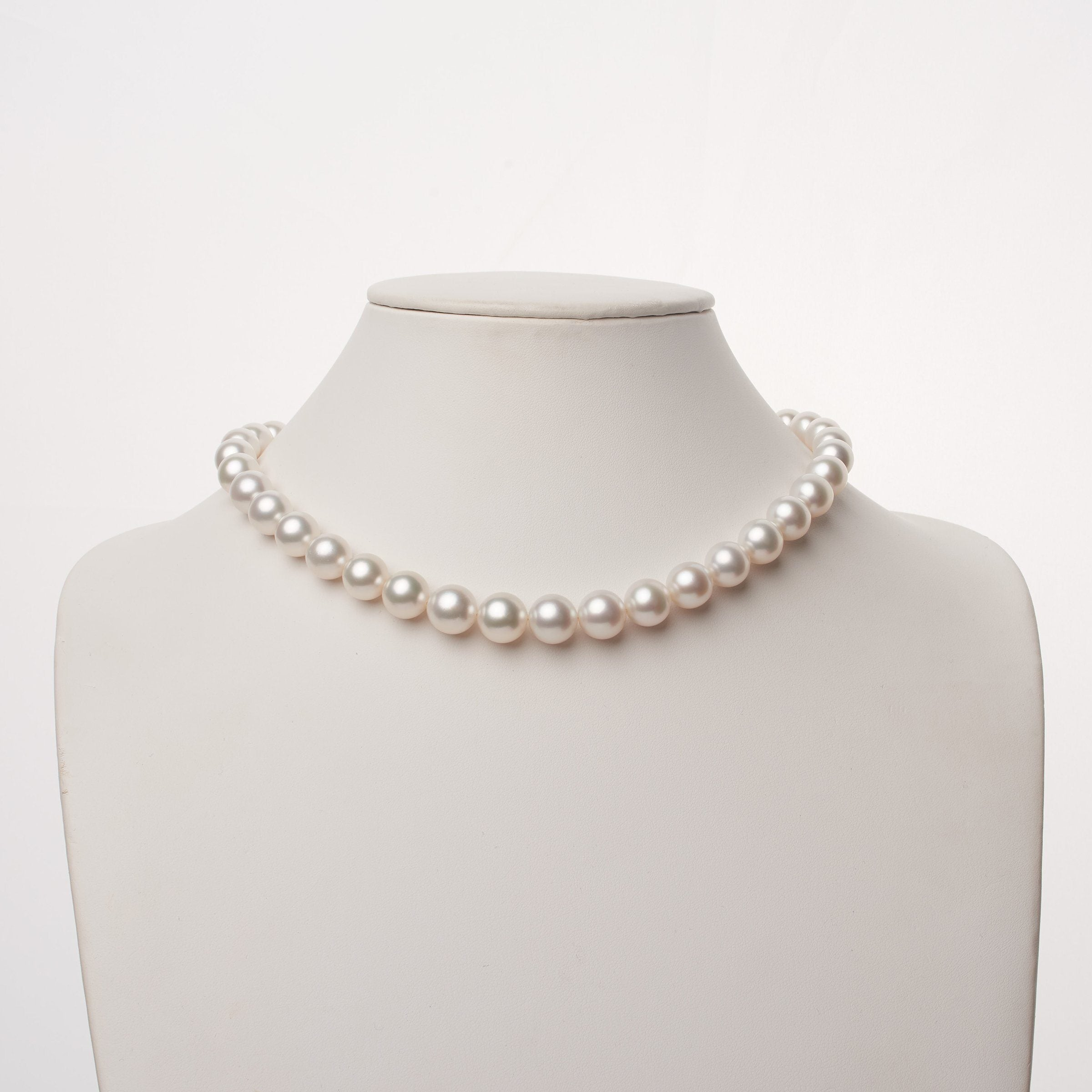 9.1-11.9 mm AA+/AAA White South Sea Round Pearl Necklace