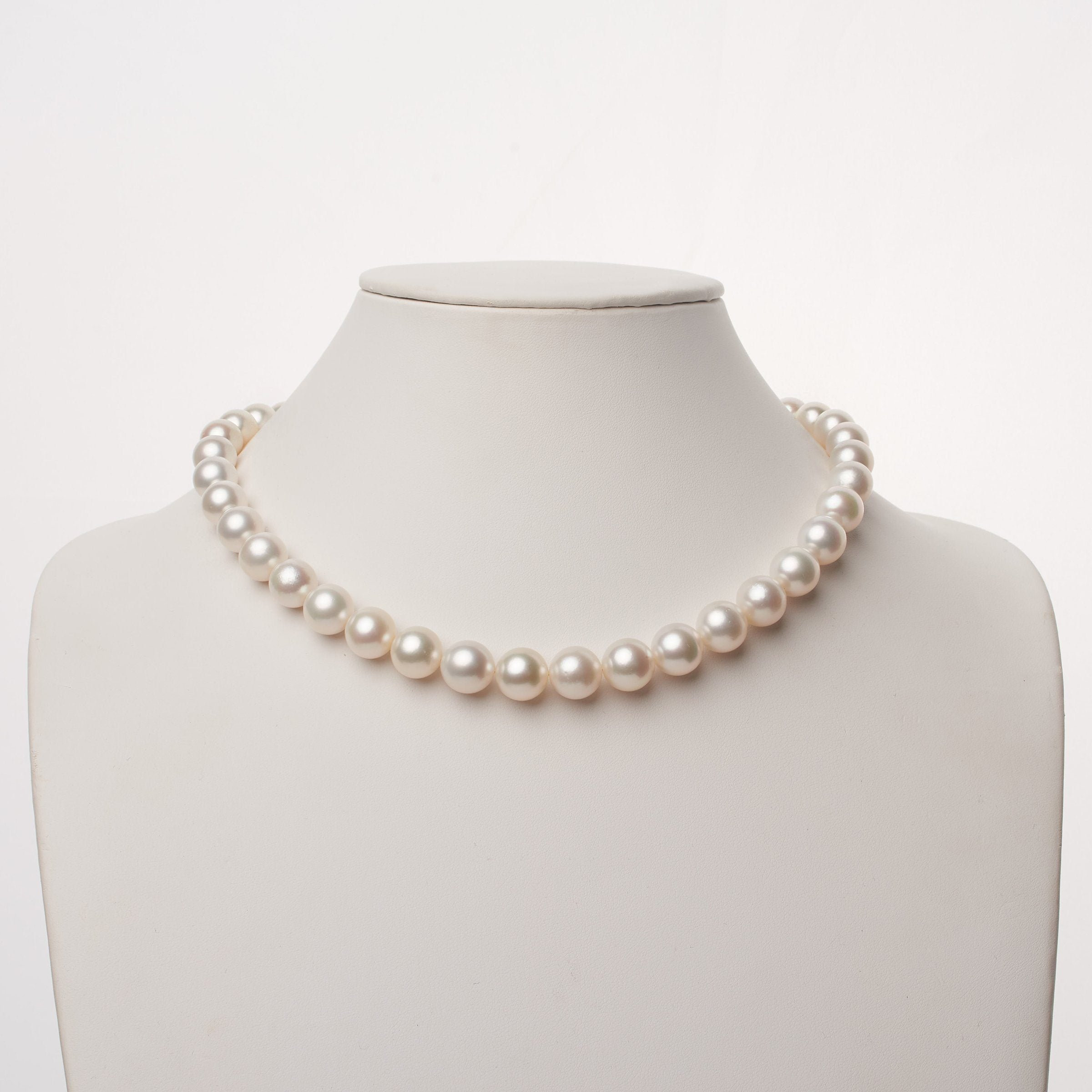 10.0-12.0 mm AA+/AAA White South Sea Round Pearl Necklace