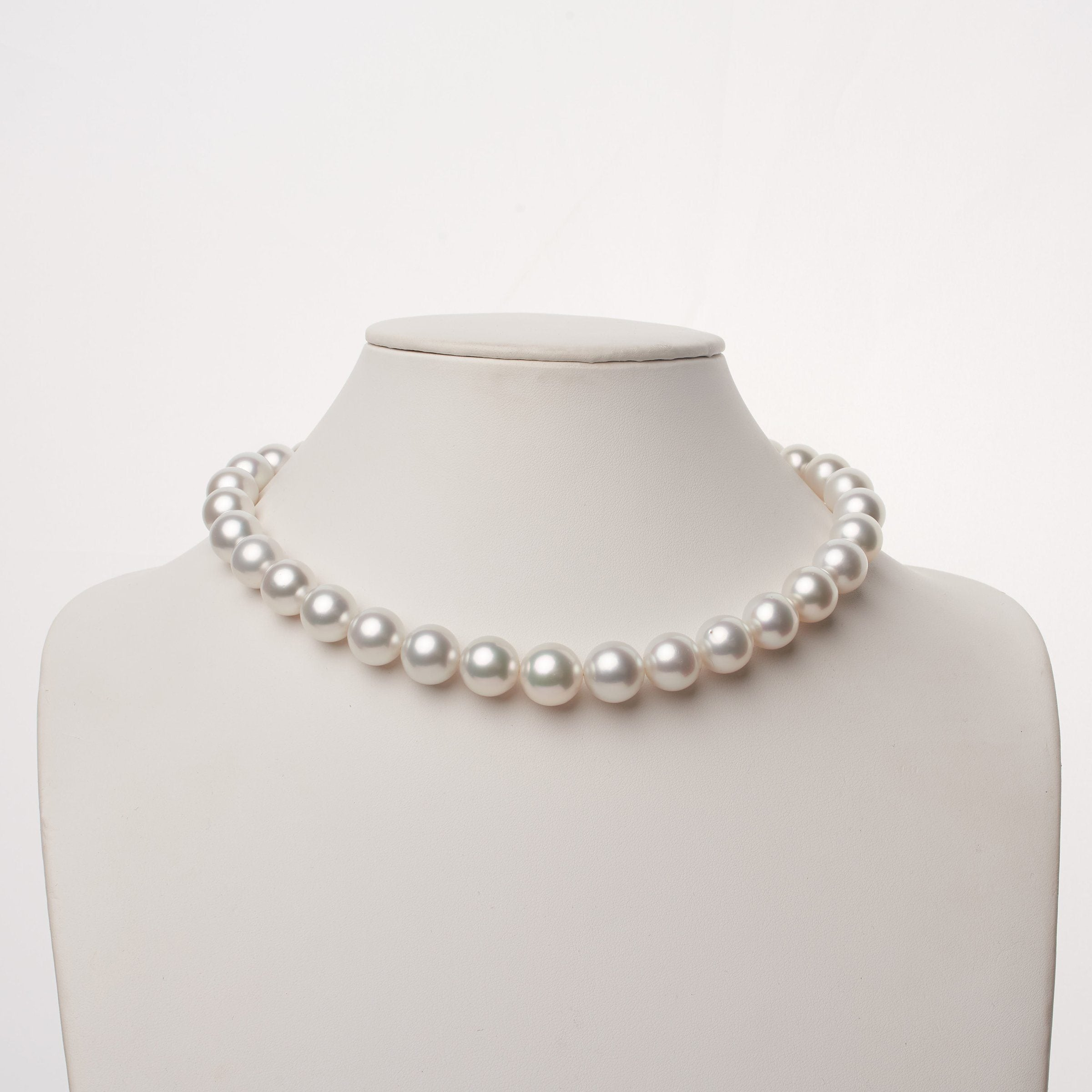 12.1-14.3 mm AAA White South Sea Round Pearl Necklace