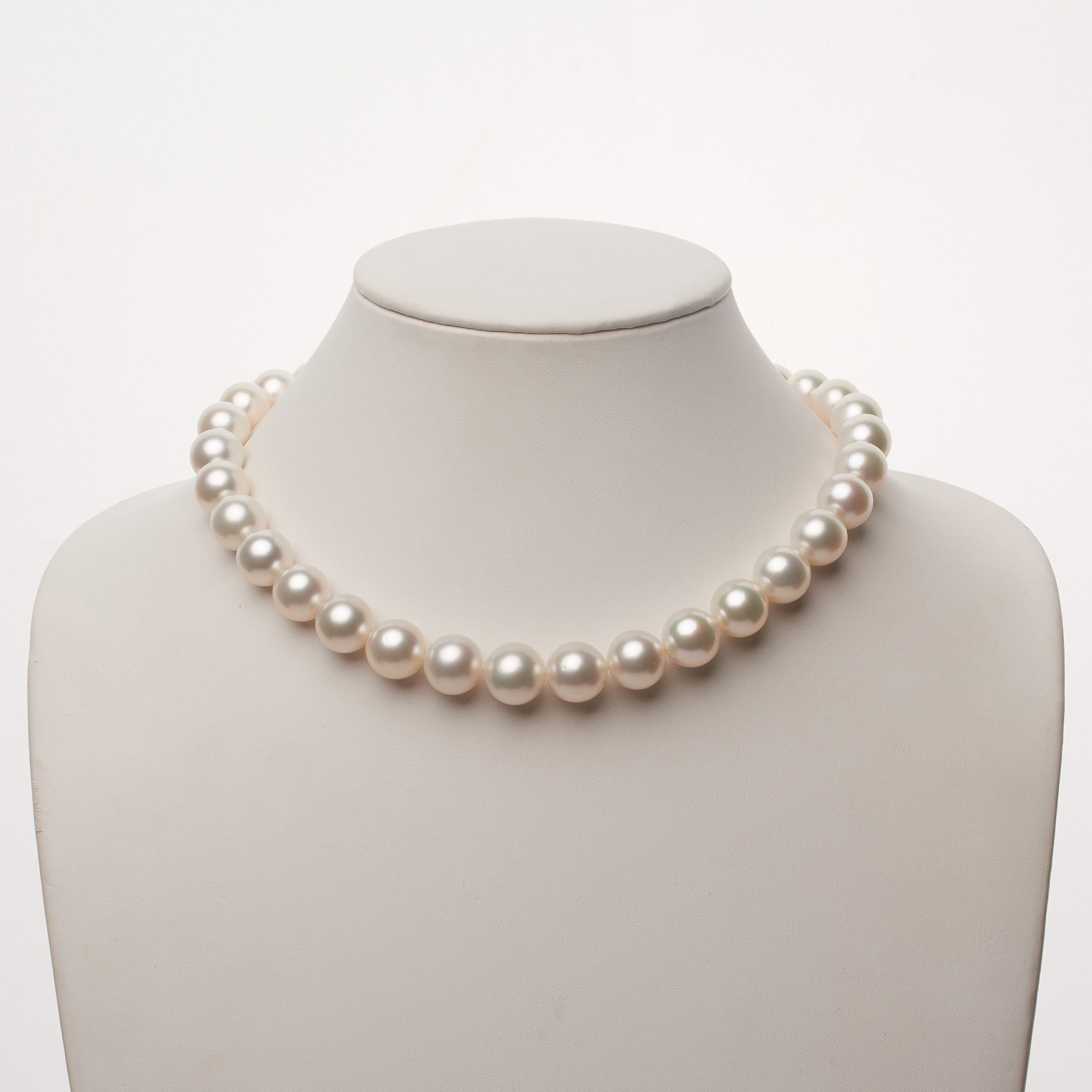 12.0-14.1 mm AA+ White South Sea Round Pearl Necklace