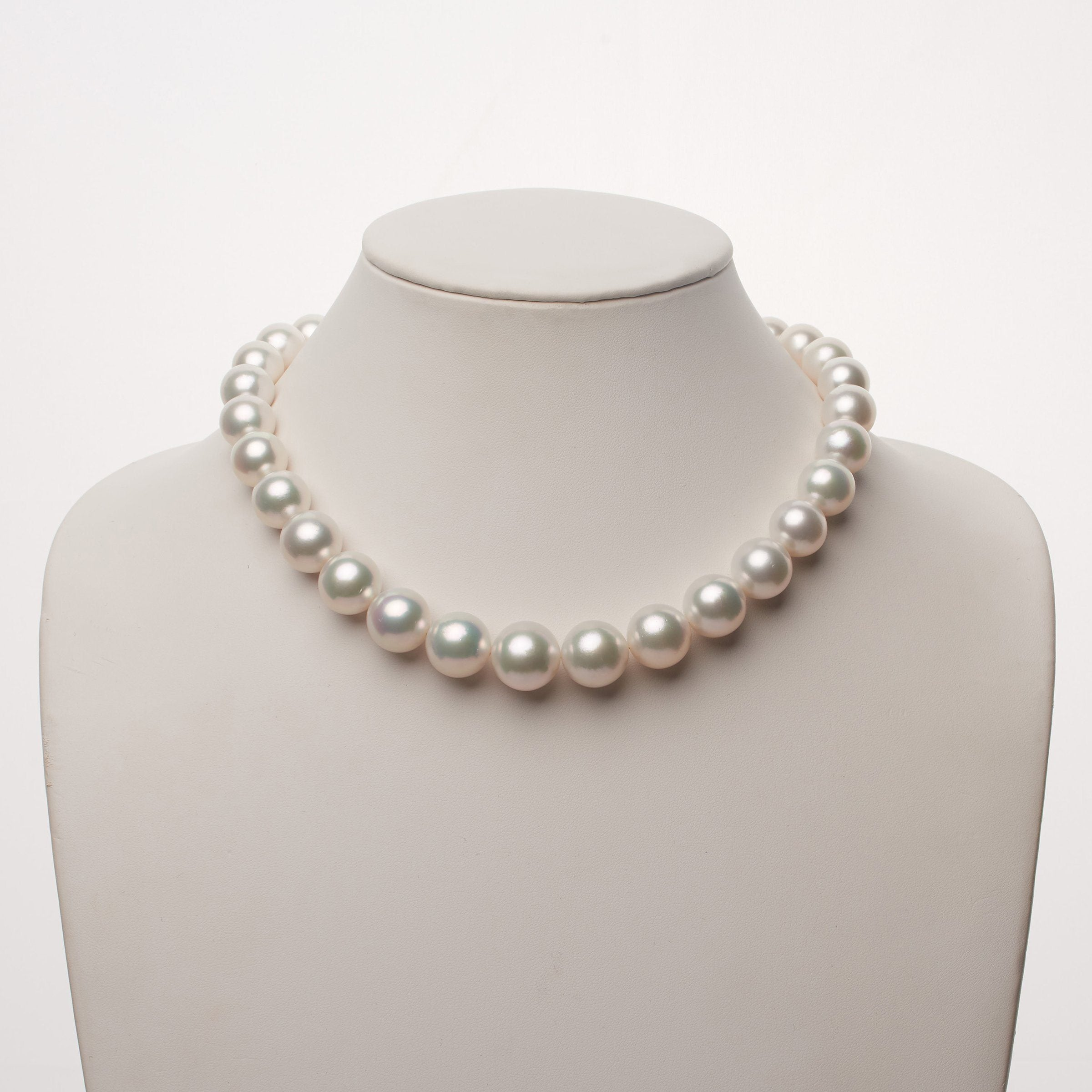 12.1-15.9 mm AA+/AAA White South Sea Round Pearl Necklace