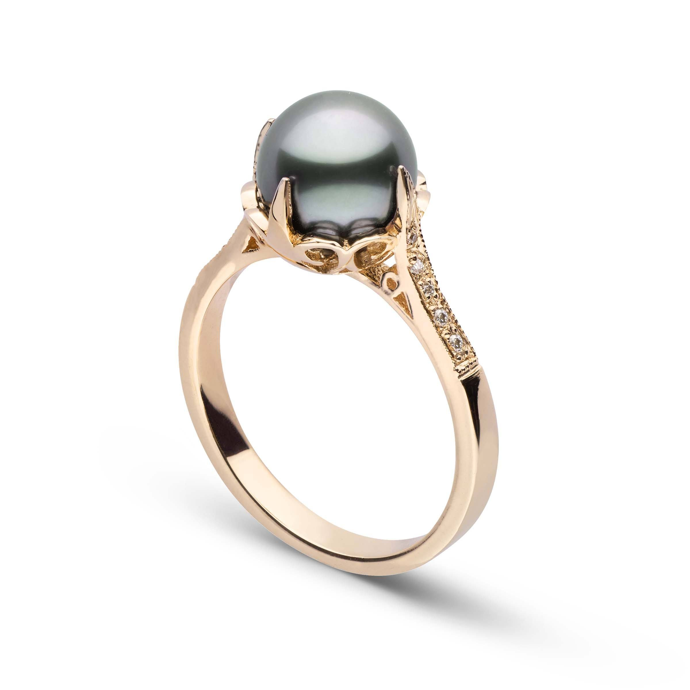 Capture Collection Diamond and Tahitian Pearl Ring