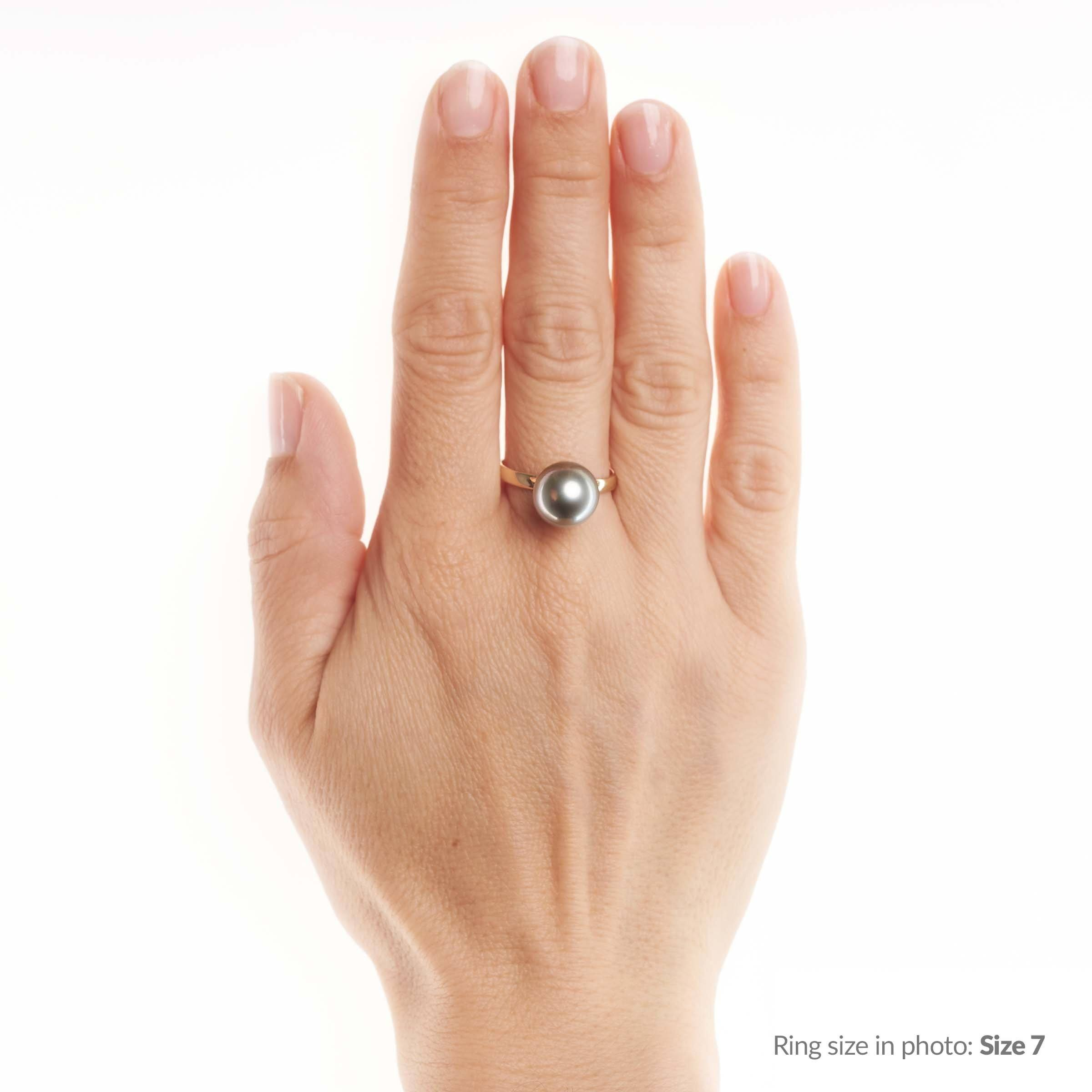 Classic Collection 11.0-12.0 mm Tahitian Pearl Ring