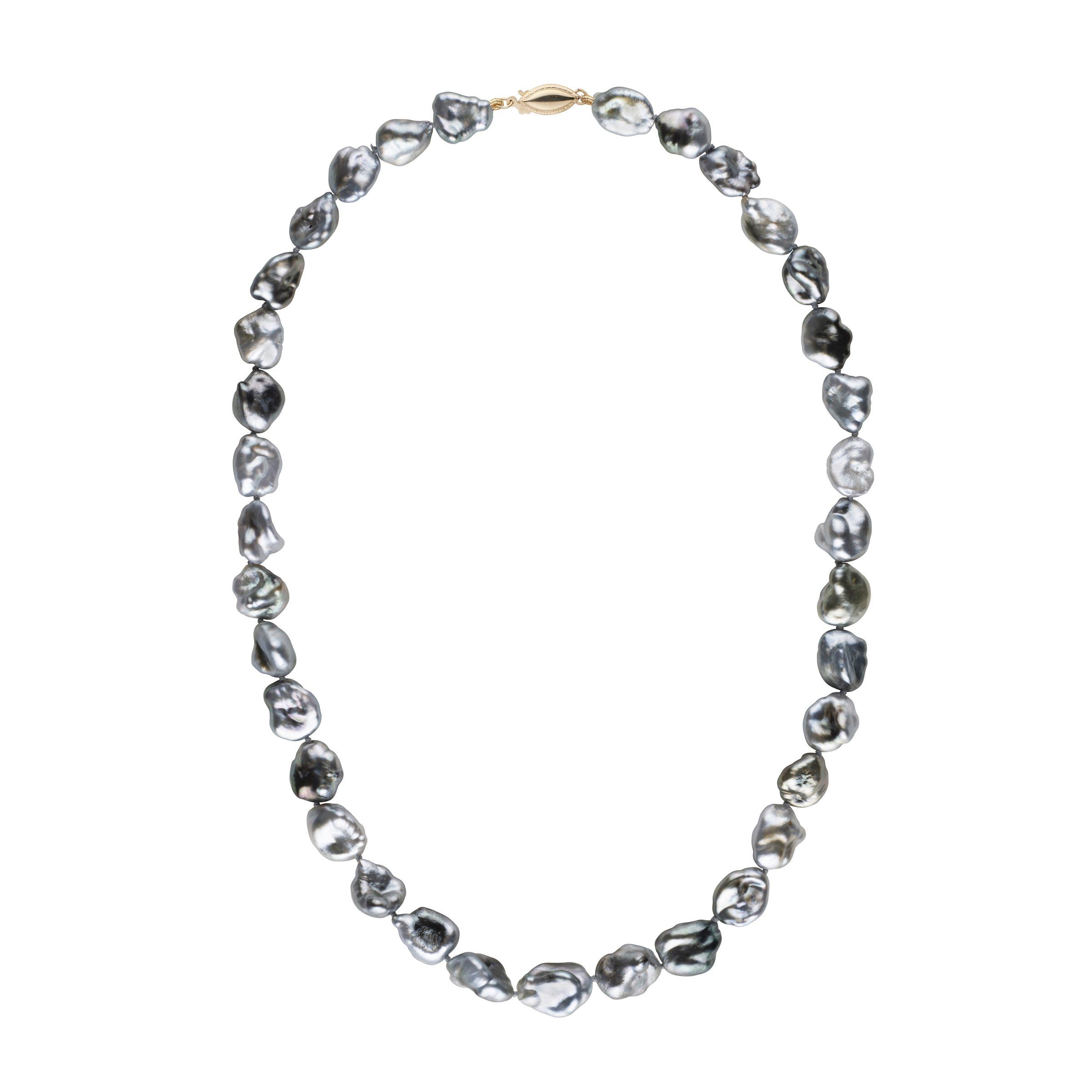 9.0-12.0 mm 18 Inch Keshi Tahitian Pearl Necklace