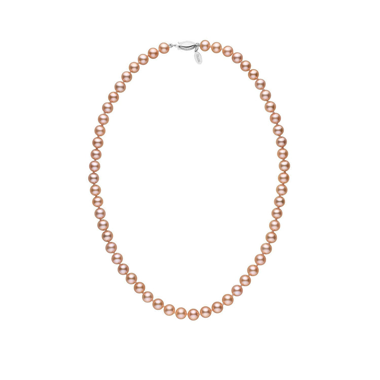 6.5-7.0 mm 16 Inch Pink to Peach Freshadama Freshwater Pearl Necklace
