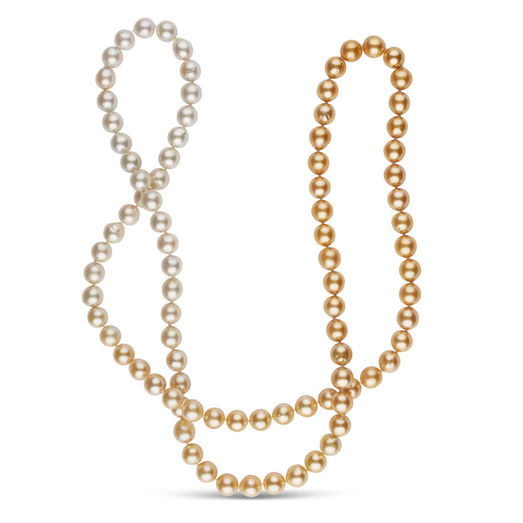 37-Inch 10.0-11.0 mm AA+ Ombre Golden South Sea Pearl Necklace
