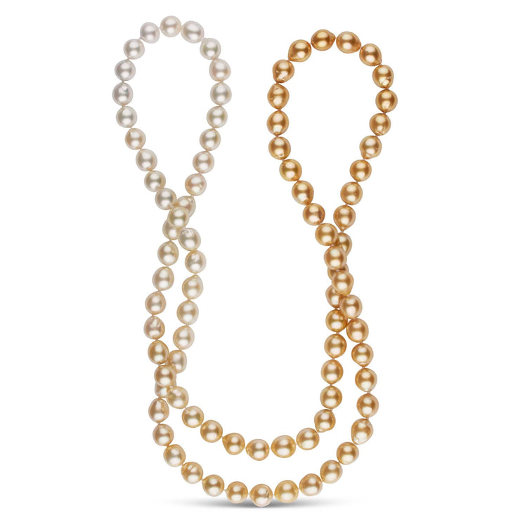 38-Inch 9.4-10.0 mm AA+ Ombre Golden South Sea Pearl Necklace