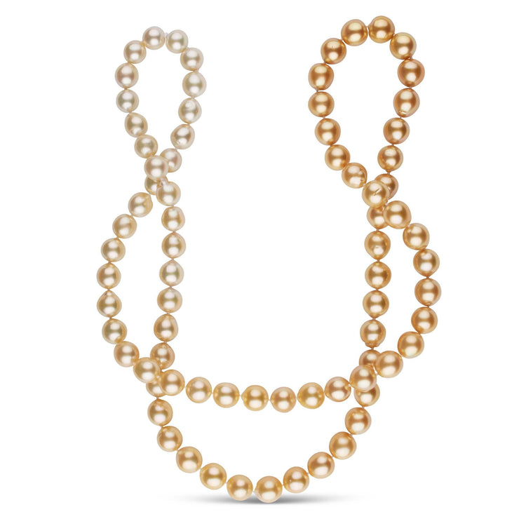37.5-Inch 10.3-12.0 mm AA+/AAA Ombre Golden South Sea Pearl Necklace