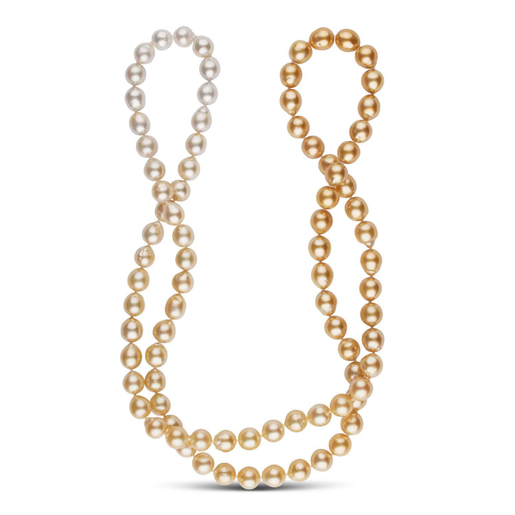 36.5-Inch 9.1-10.0 mm AA+ Ombre Golden South Sea Pearl Necklace