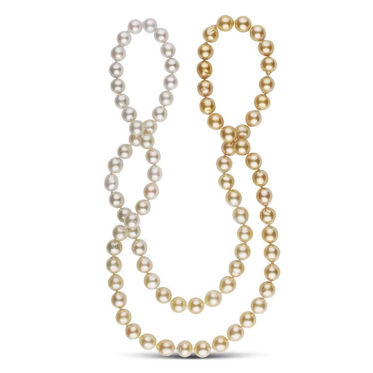 36-Inch 9.0-10.0 mm AA+ Ombre Golden South Sea Pearl Necklace