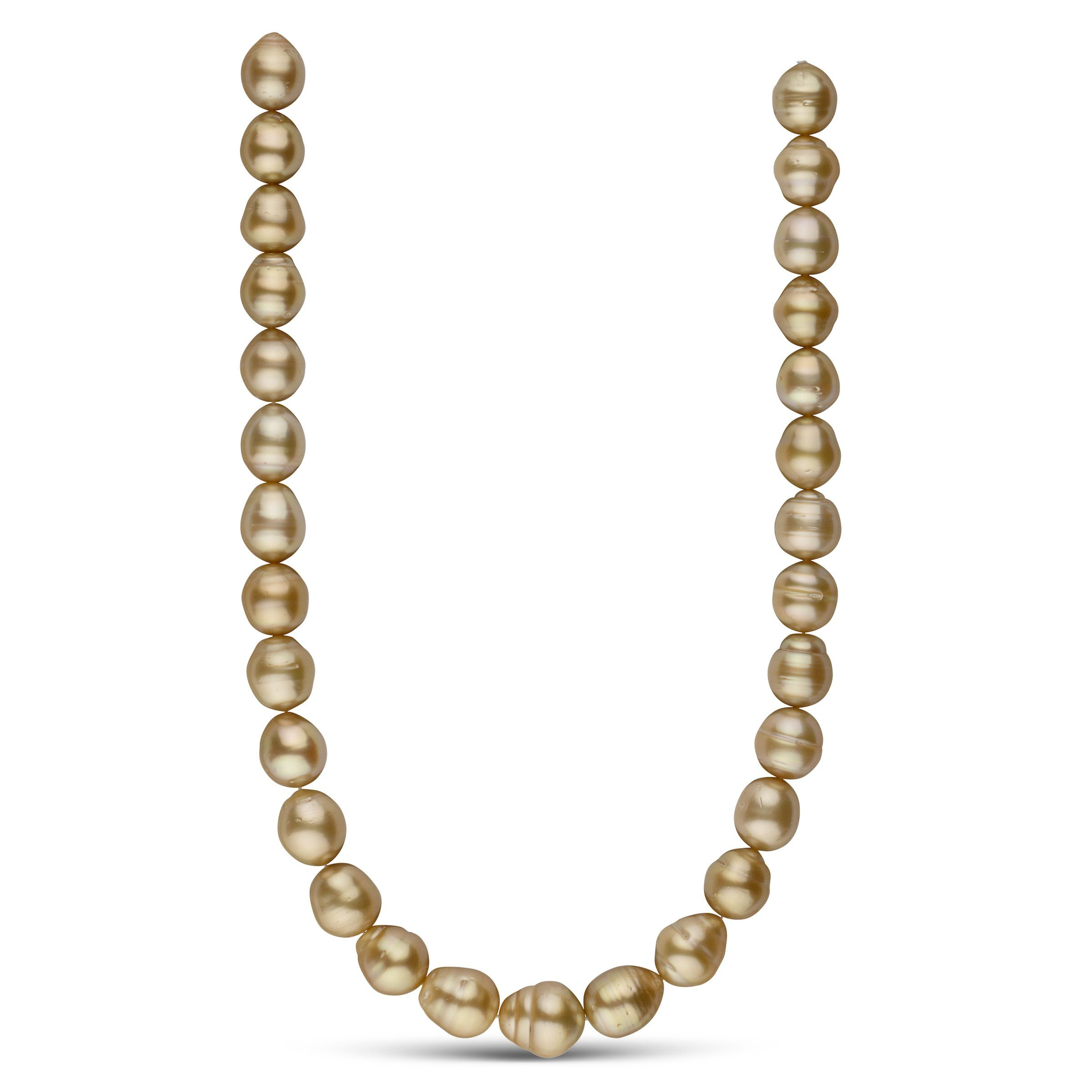 12.0-14.2 mm AA+ Golden South Sea Baroque Necklace