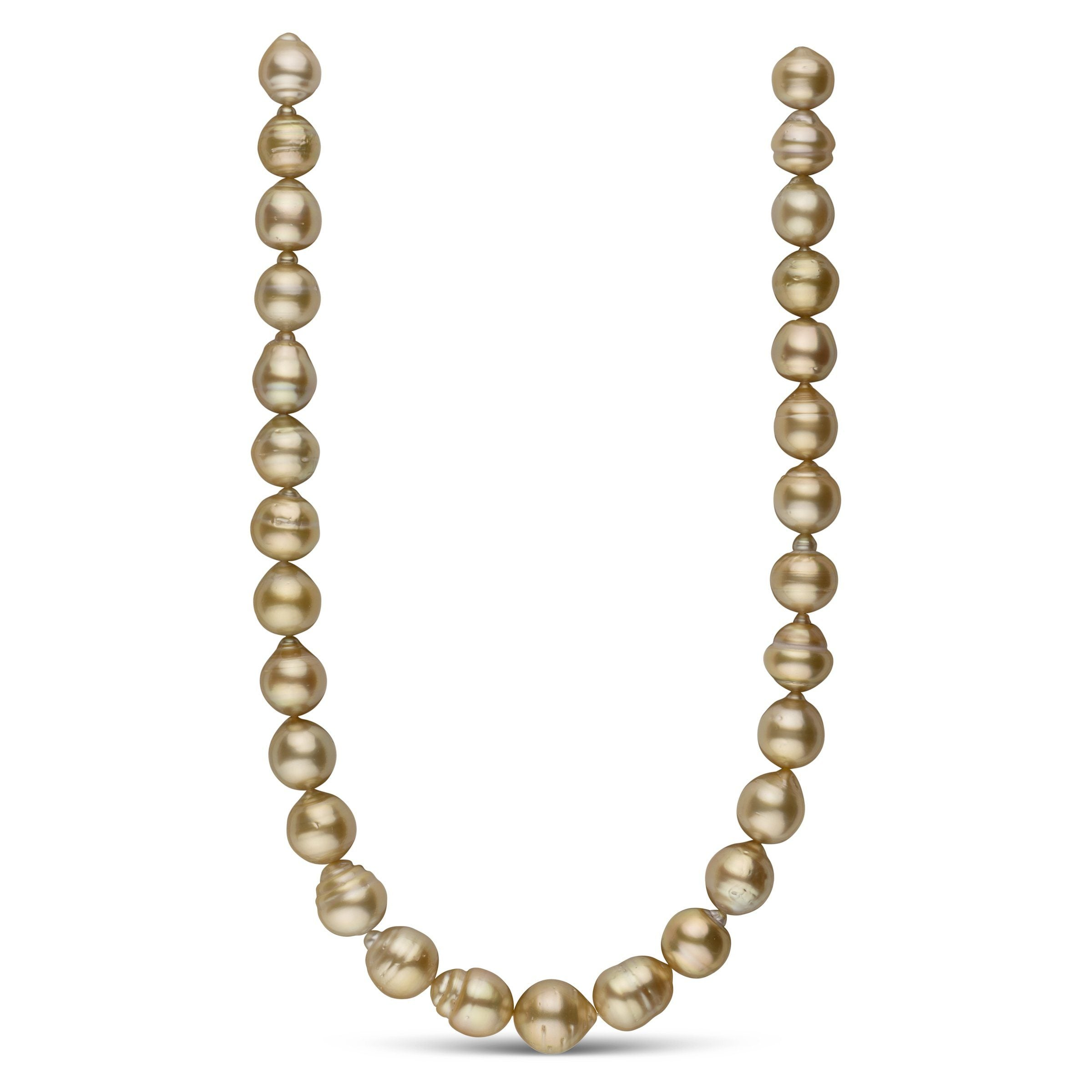 12.0-14.4 mm AA+ Golden South Sea Baroque Necklace