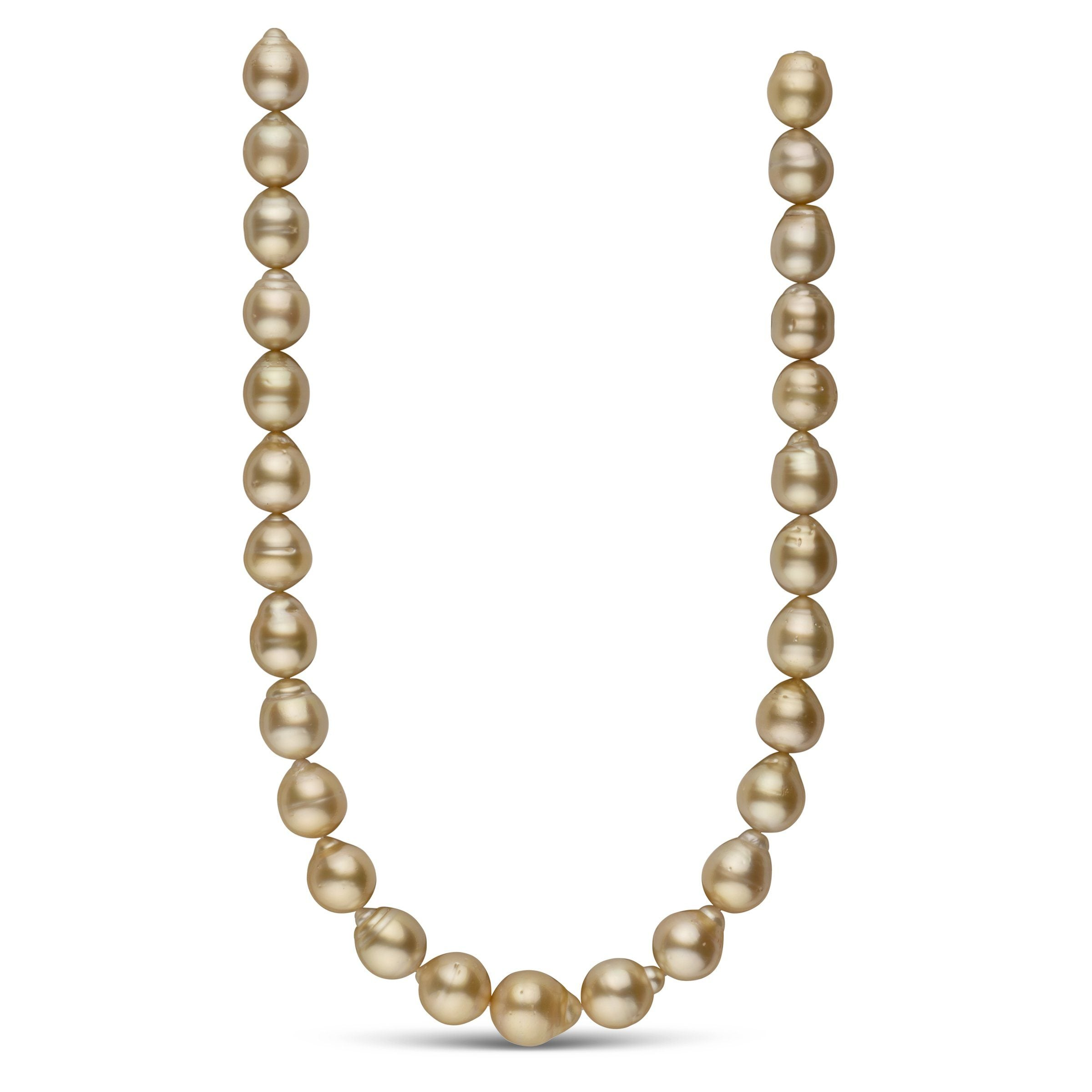 12.3-14.4 mm AA+ Golden South Sea Baroque Necklace