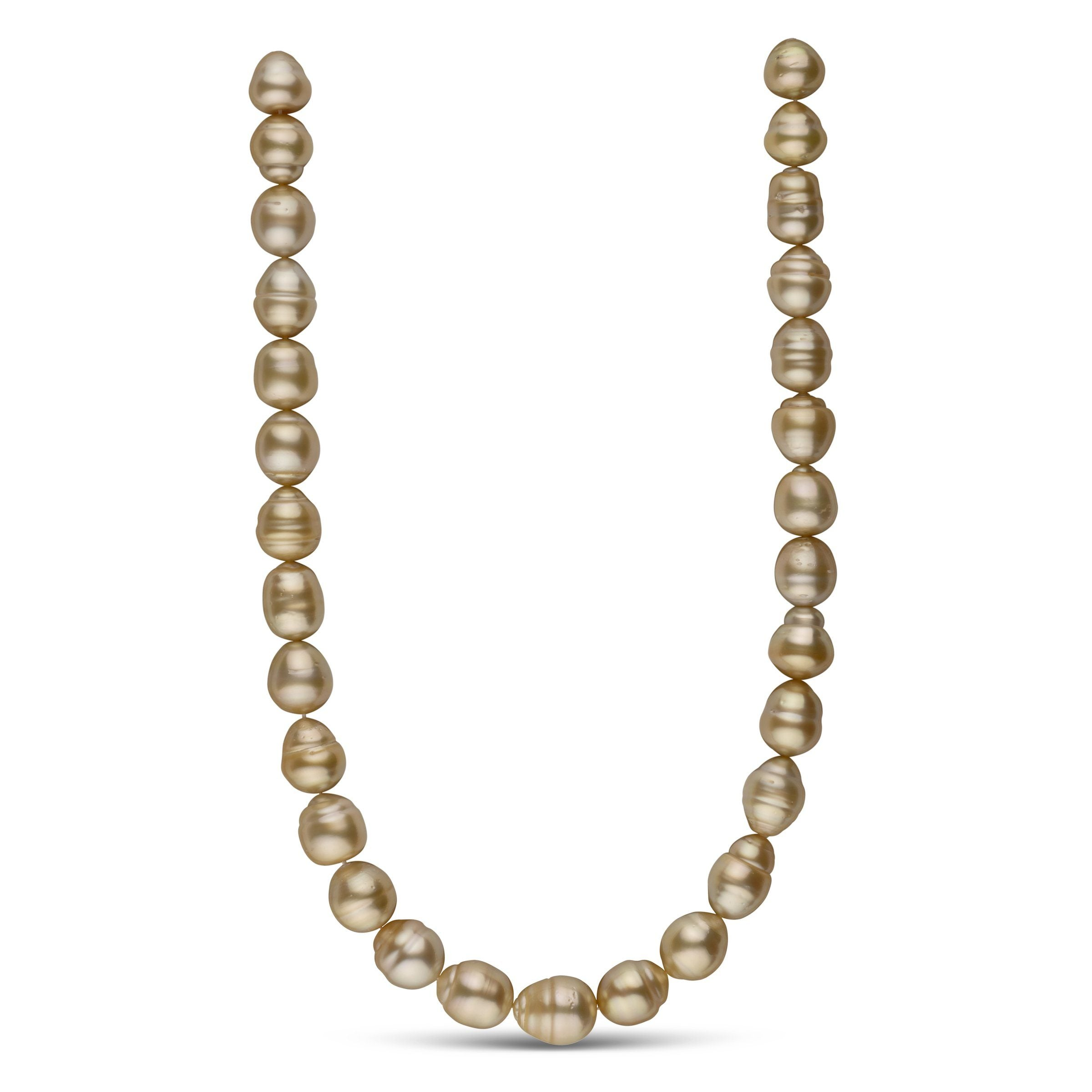 12.0-13.4 mm AA+ Golden South Sea Baroque Necklace