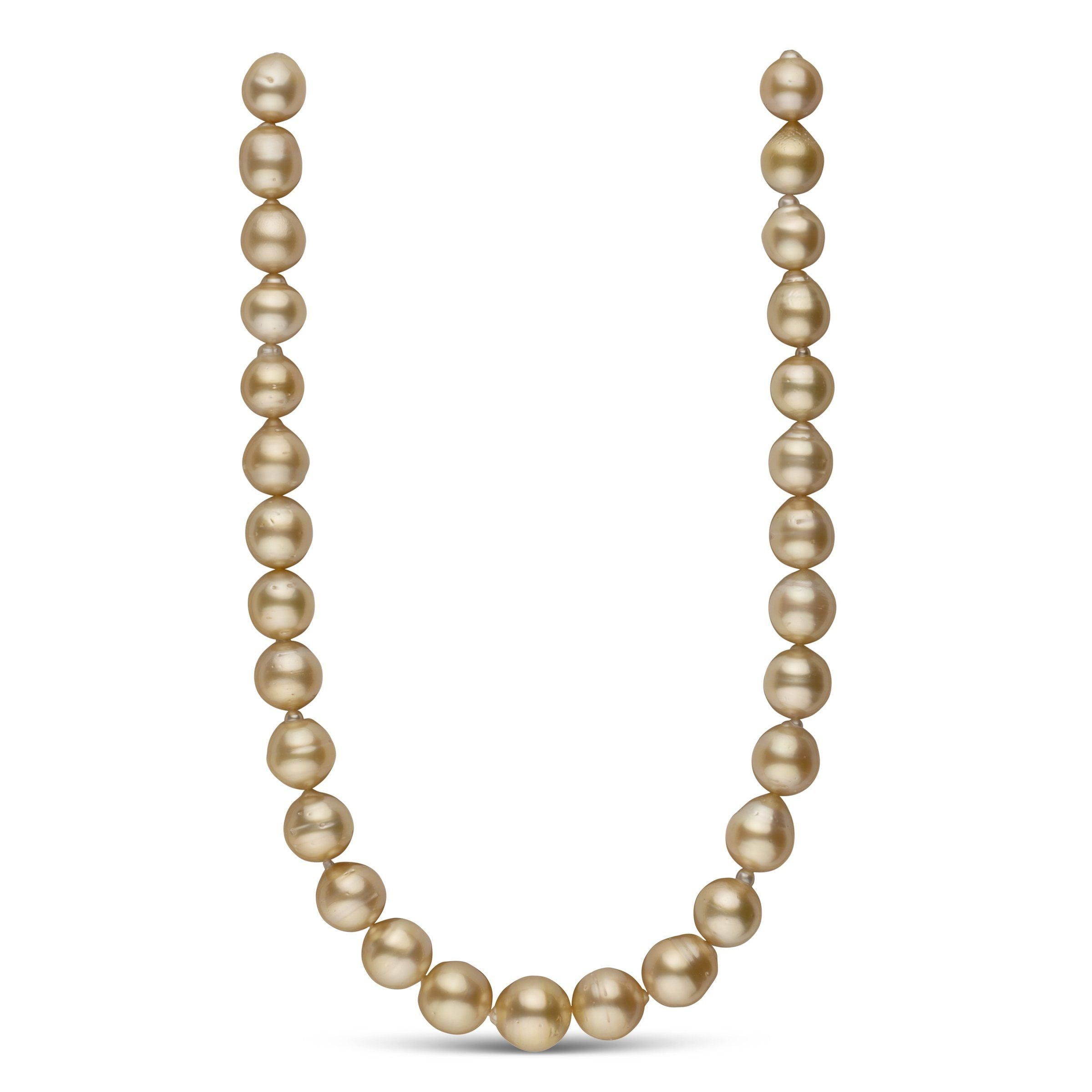 12.1-14.5 mm AA+ Golden South Sea Baroque Necklace