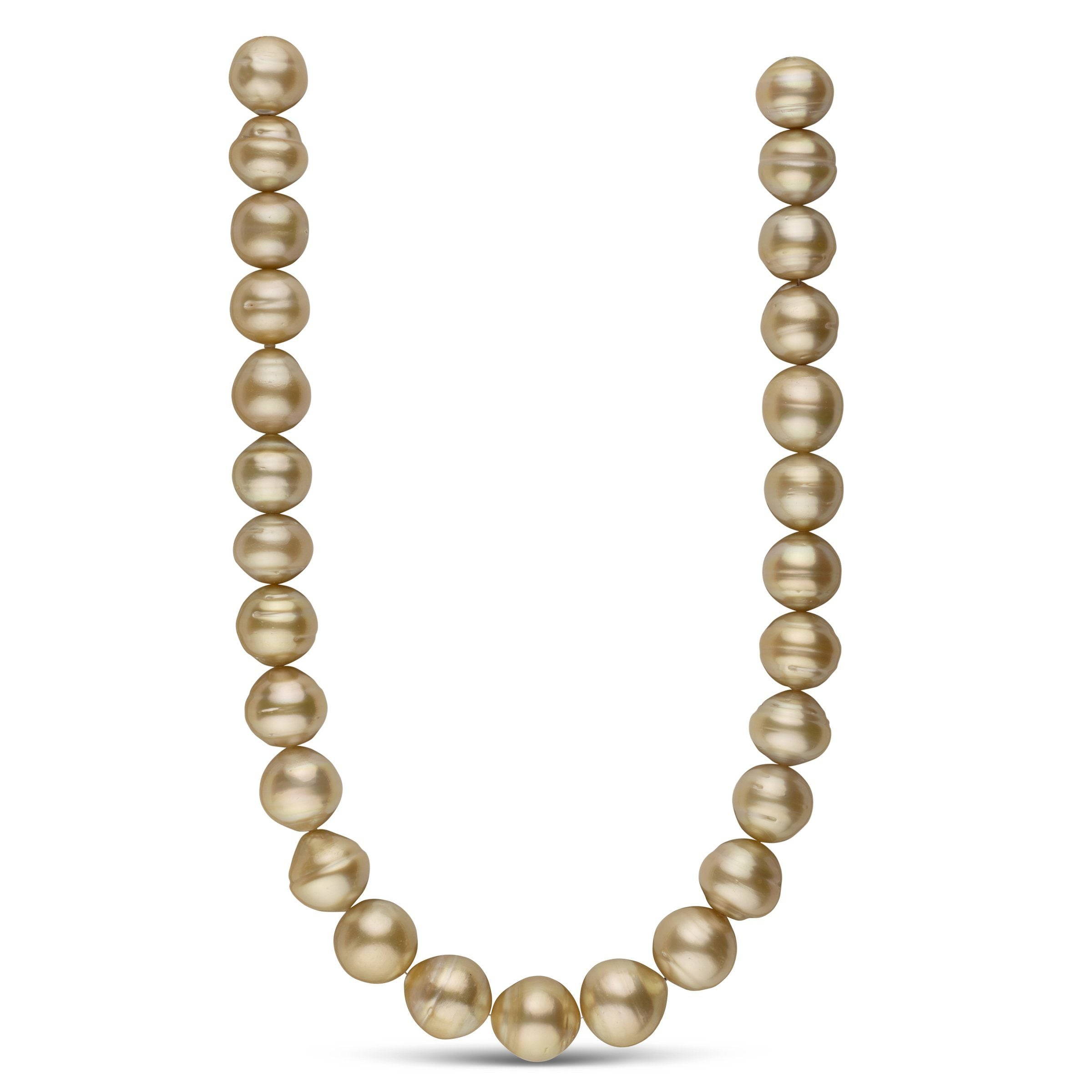 15.0-16.4 mm AA+ Golden South Sea Baroque Necklace