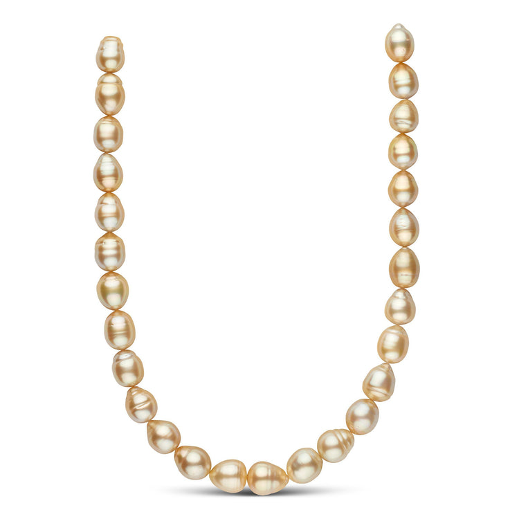 11.91-13.64 mm Golden South Sea Baroque Necklace