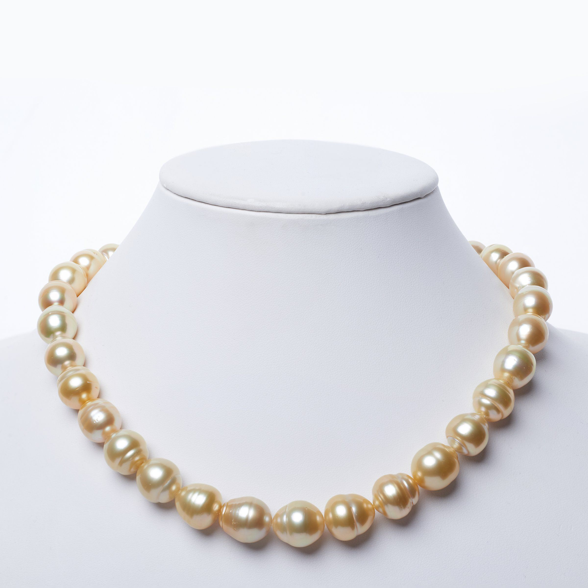 12.9-13.95 mm Golden South Sea Baroque Necklace