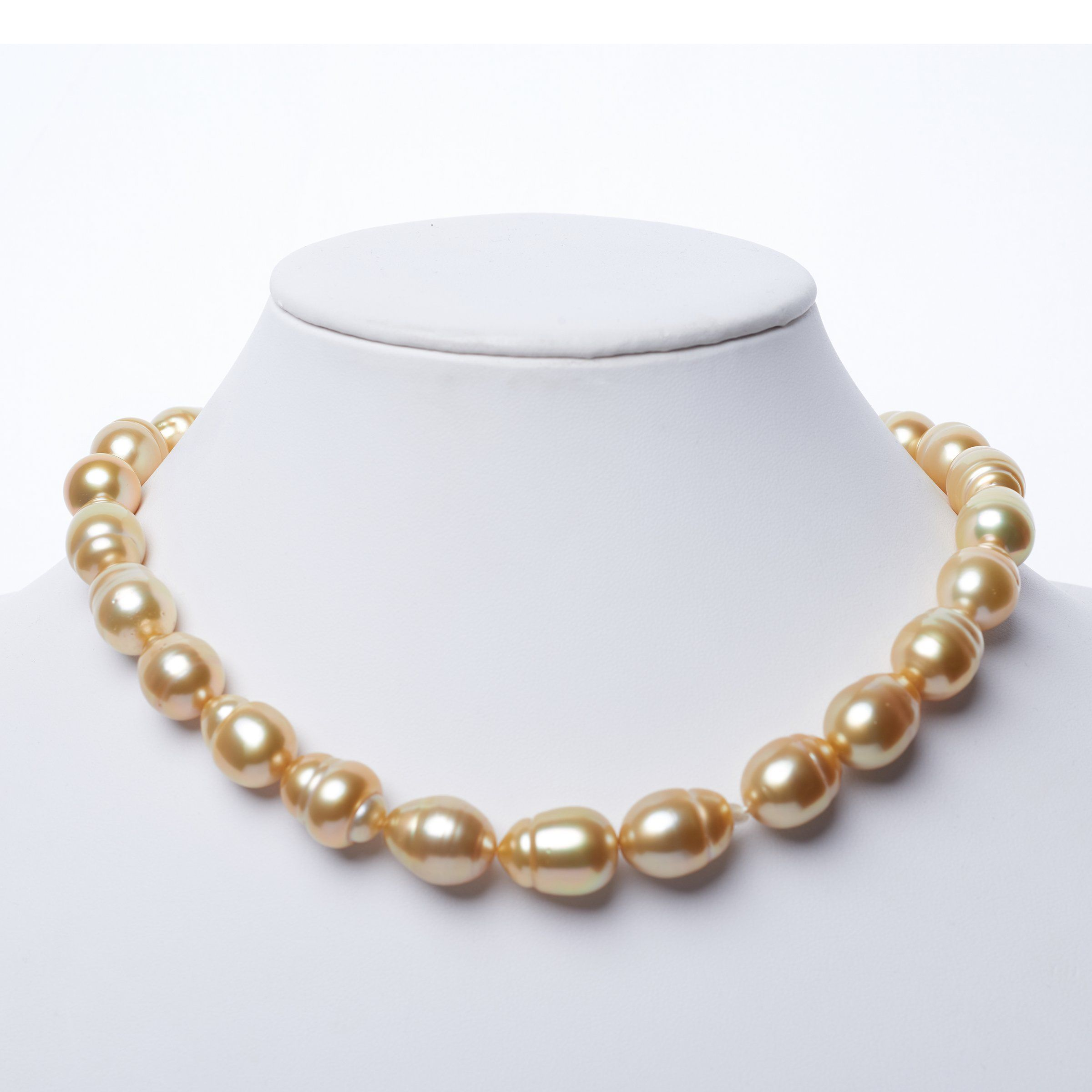 12.11-13.99 mm Golden South Sea Baroque Necklace