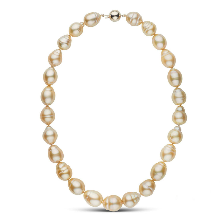 11.0-14.8 mm Golden South Sea Baroque Necklace