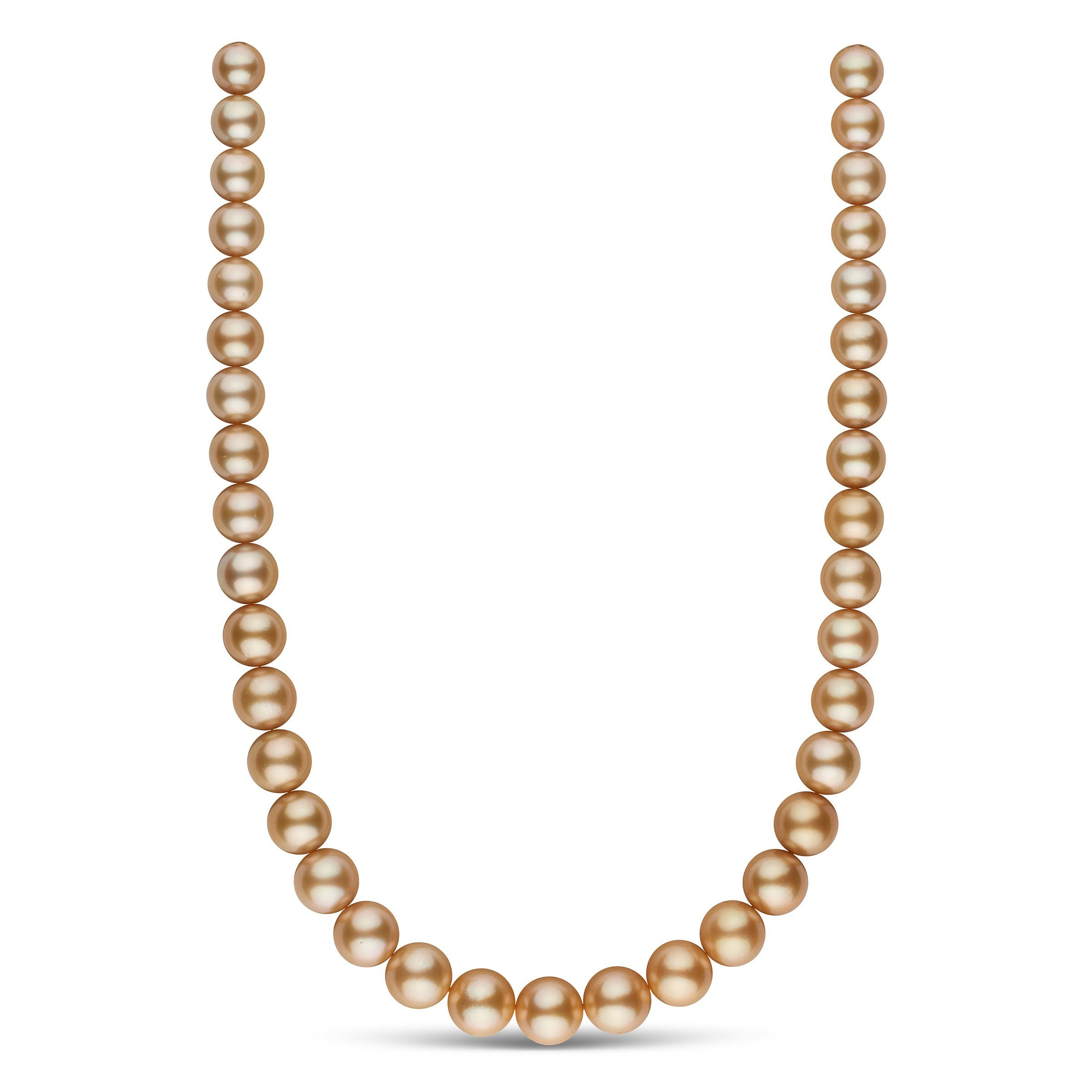 10.2-13.0 mm AA+/AAA Golden South Sea Round Pearl Necklace