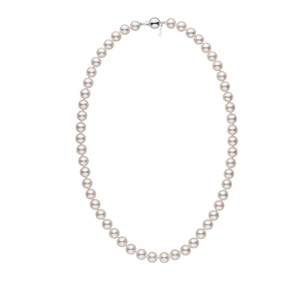 7.5-8.0 mm 18 inch White Hanadama Akoya Pearl Necklace