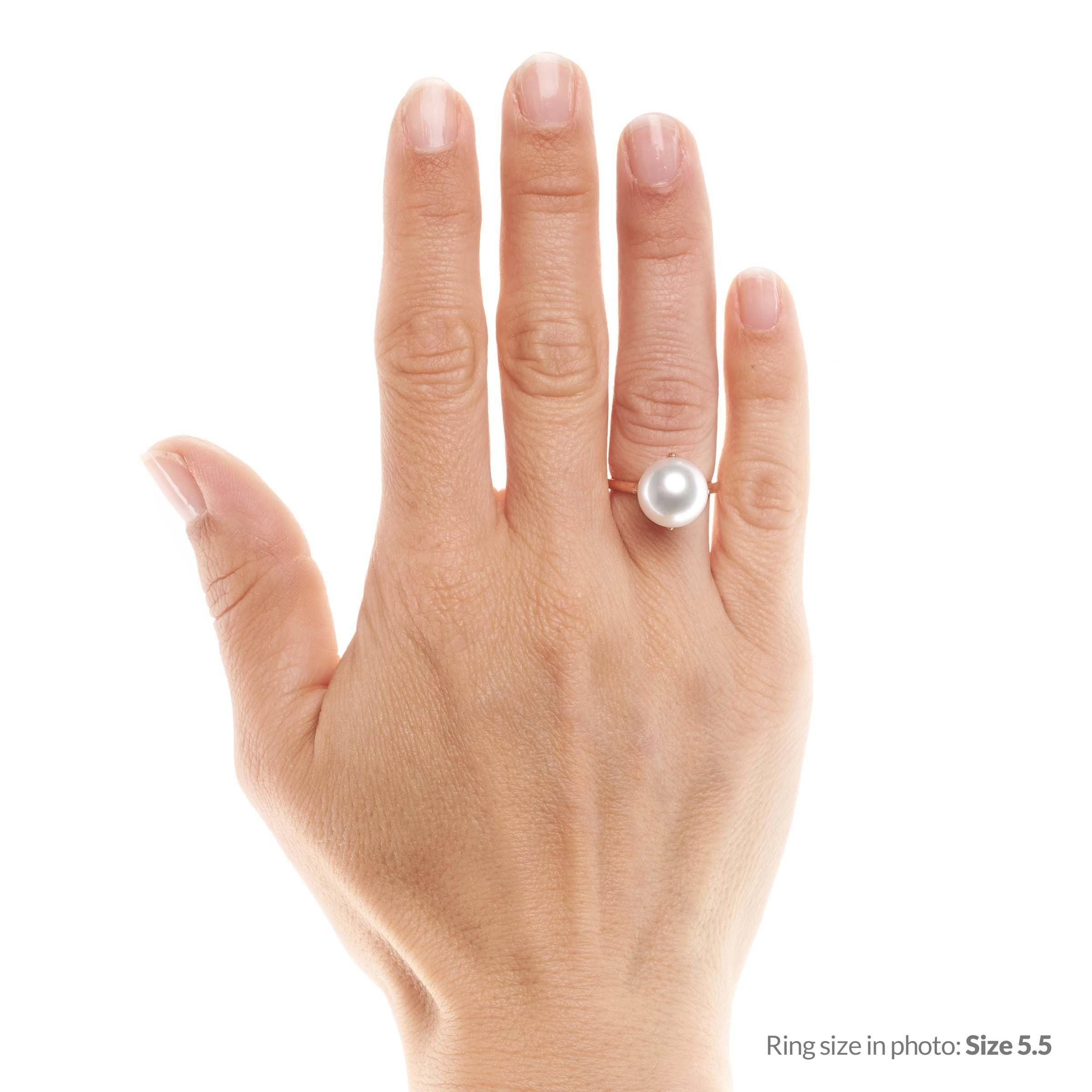 Oracle Collection White South Sea Pearl Ring