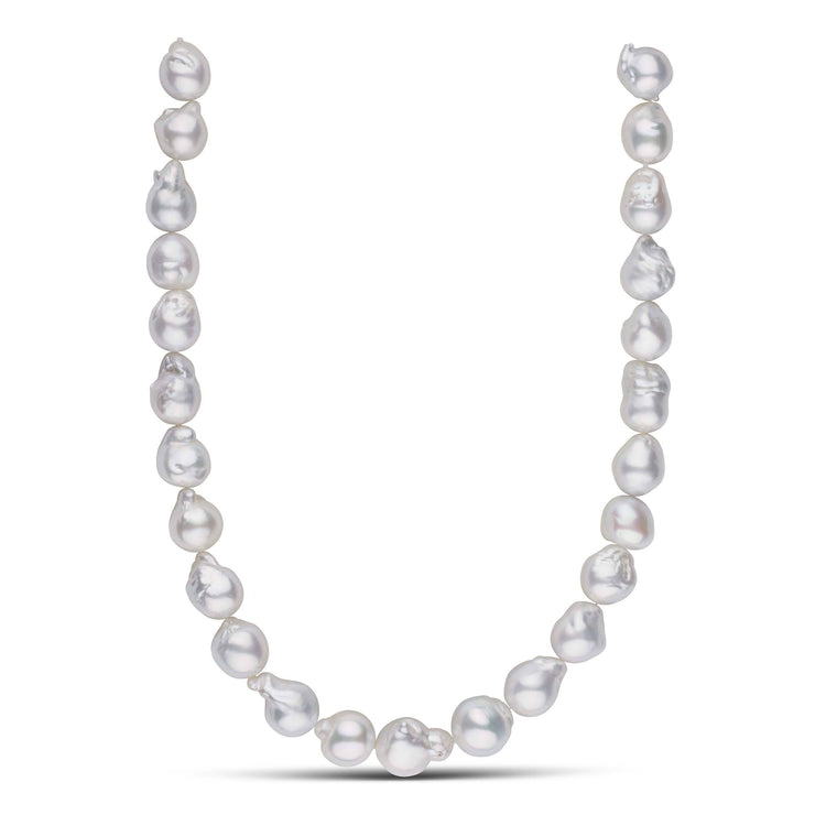 18-inch 12.0-15.0 mm AAA Baroque White South Sea Pearl Necklace