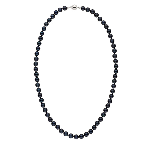 7.0-7.5 mm 22 Inch AA+ Black Akoya Pearl Necklace