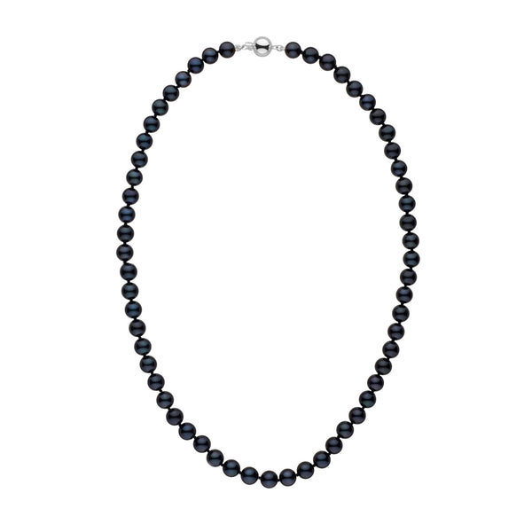 7.0-7.5 mm 18 Inch AA+ Black Akoya Pearl Necklace