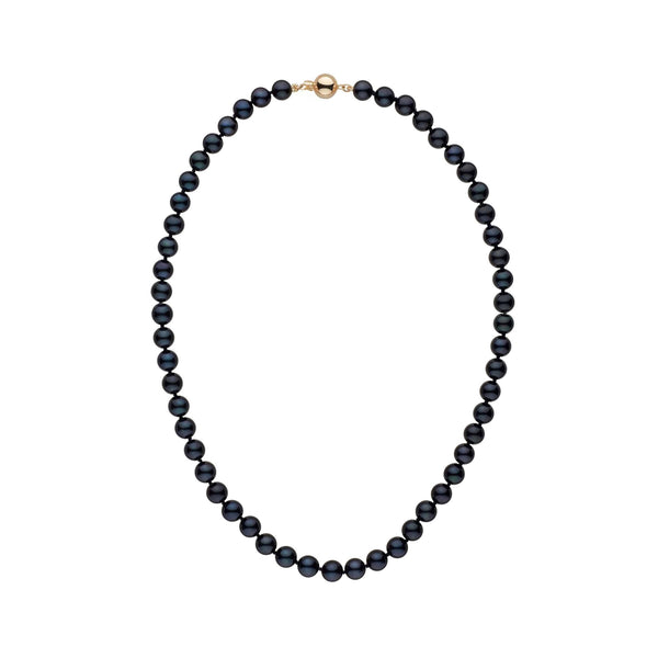 7.0-7.5 mm 16 Inch AA+ Black Akoya Pearl Necklace