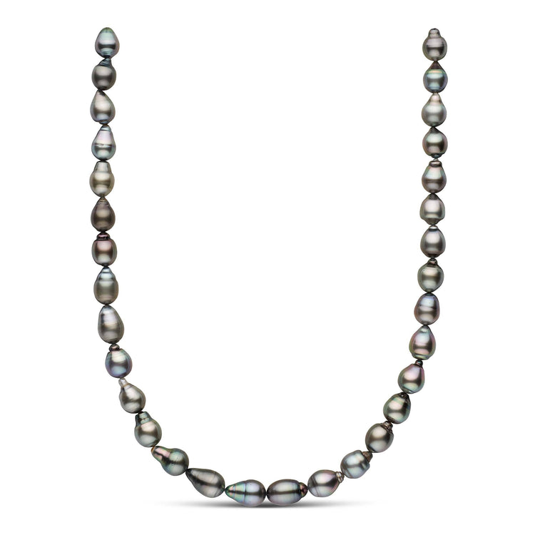 18-inch 9.1-10.0 mm AA+/AAA Drop Tahitian Pearl Necklace
